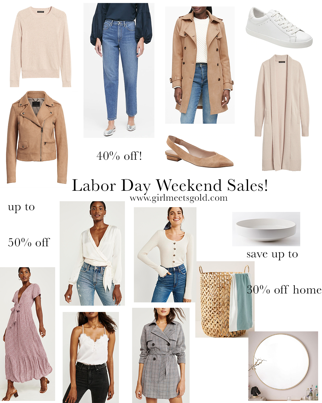 2019 Labor Day Weekend Sales! | www.girlmeetsgold.com