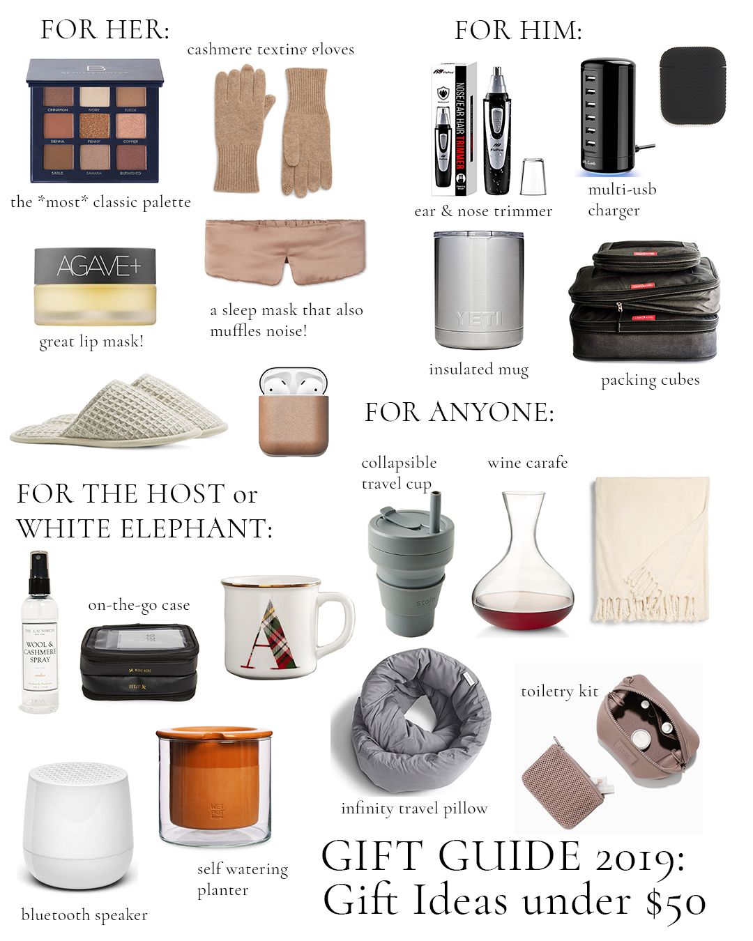 2019 Gift Guide Under $50: For Him, Her
