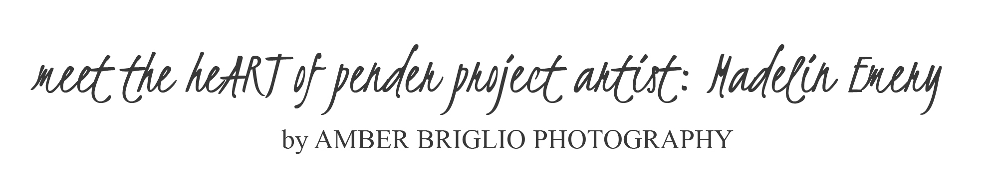 Pender Island Artist - Amber Briglio Photography