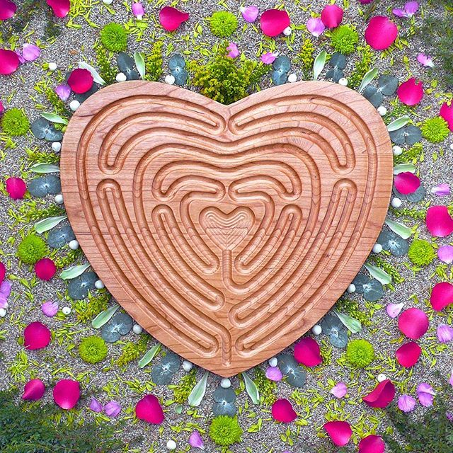 Happy Valentine's Day!! The journeys of your heart have led you to this moment. How will you celebrate? . {Love Labyrinth™ ~ a design I originally created for a wedding.  Botanical blessing, a later offering} . . . . . . .  #heartlabyrinth #labyrinth #labyrinthe #labyrinths #sacredpattern #lovelabyrinth #showsomelove #happyvalentinesday❤️ #sacredart #sacredspace #healingmandala #natureart #botanicalmandala #gypsysoul #bohemianstyle #spiritualart #intuitiveart #floweralchemy #flowermedicine #underthefloralspell #flowerstagram #flowerart #flowermagic #mybotanicalheart #aquietstyle #inspiredbypetals #inspiredbynature #madewithlove #botanicaldaydreams