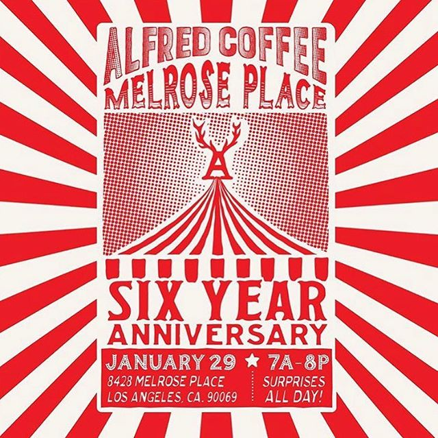 Congratulations to one of our favorite clients on there six-year anniversary! Great company to work with and the best tea and coffee in the city! #alfreds #alfredscoffee #alfredstea #melroseplace and the #world