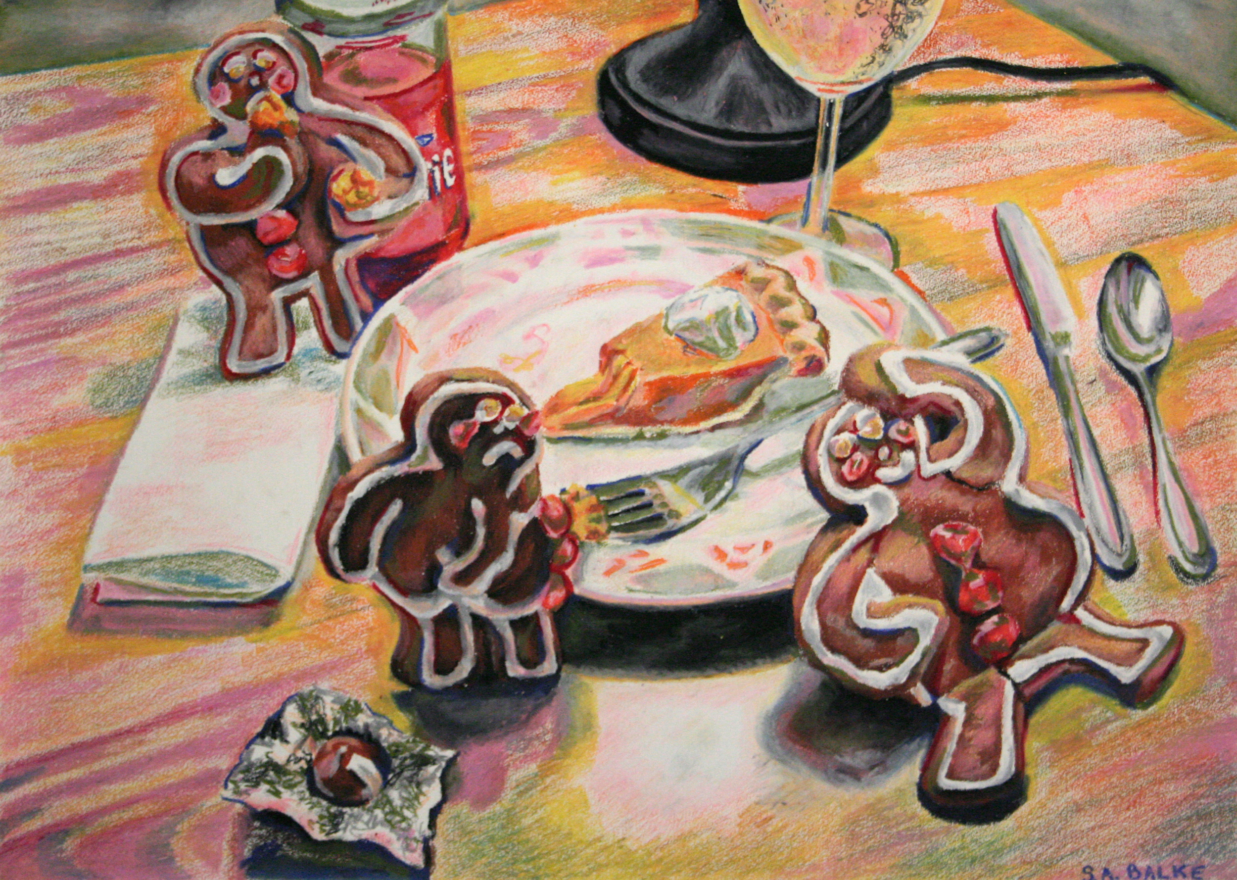 """2008 // Oil pastels on paper // 28x40"""""""