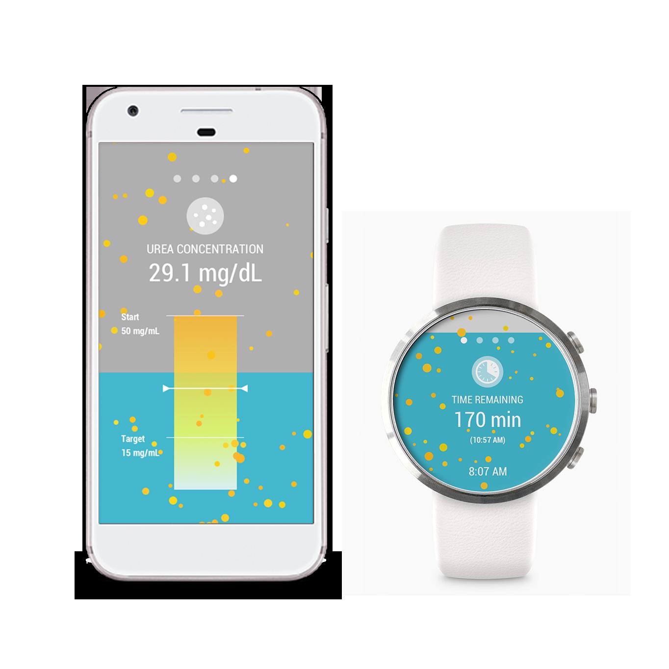Alternative design concepts: mobile app vs. smart watch app