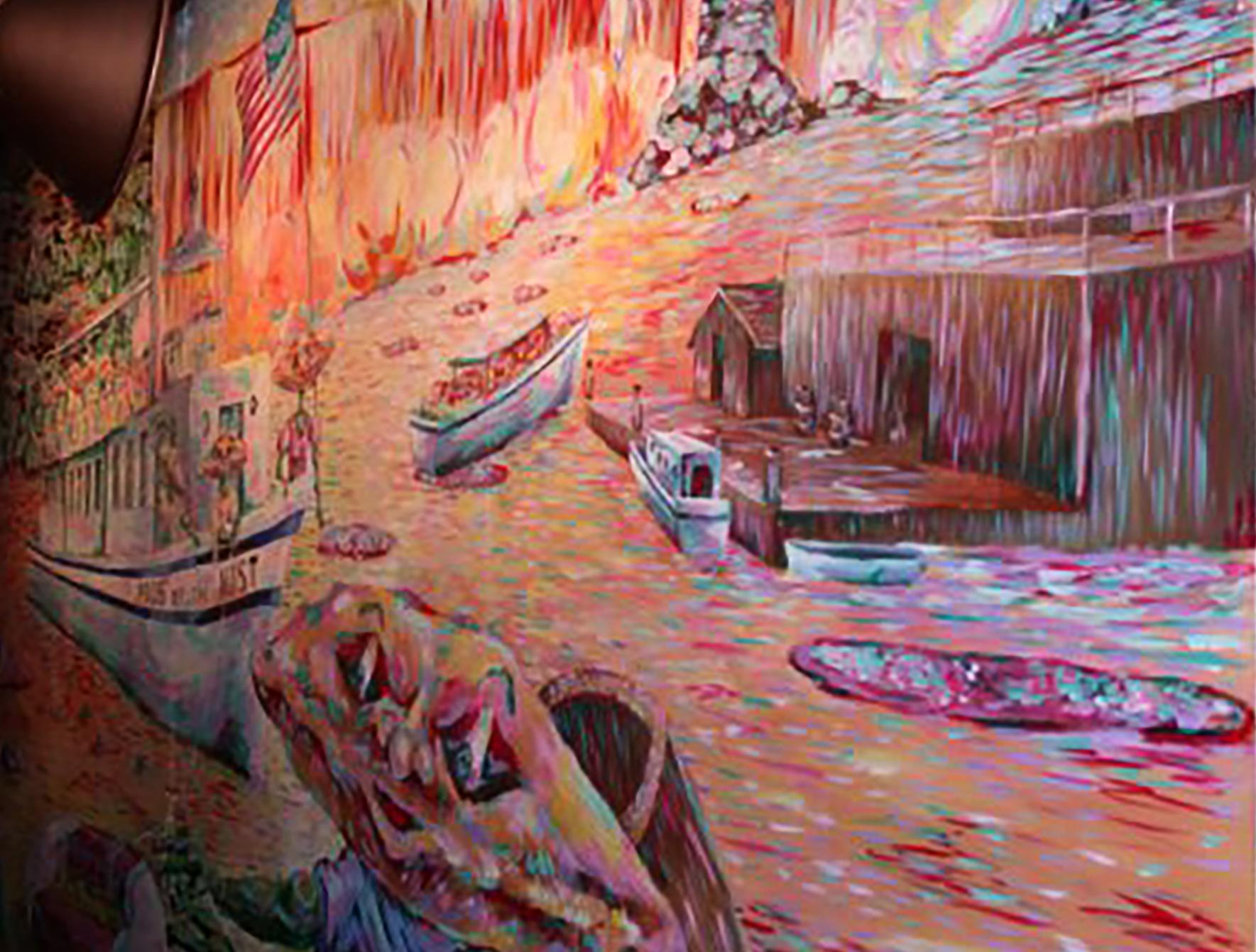2004 // Acrylic on MDF // 5' x 9' wall mural