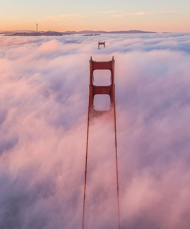 Cotton candy clouds 💞 Love finding the sweet scenes in our sweet city, captured by local creatives like @tobyharriman. #SweetSydneys . . . #onlyinsf #sanfranciscoworld #natgeotravel #cottoncandyskies #dronephotography #photographer #seetheworld #sanfrancisco #sflove #leftmyheartinsanfrancisco #goldengatebridge #ggb #visitcalifornia #optoutside #getoutstayout #passionpassport #wanderlust