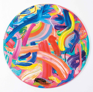 """Pablo Contrisciani, Circle of Life, 2013, acrylic on canvas, 40""""x40"""". Photo: Mariano Costa Peuser. All images are courtesy of Arch Gallery."""