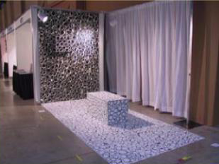 Ying-Yang. Installation. Mixed media. Ephemeral Trends. Arte Americas 2003 Art Fair. Miami, Florida.