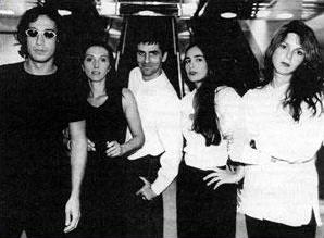 From left: Pablo Contrisciani, Carolina Sardi, Daniel Fiorda, Luciana Abait, Karina Chechik showing their work in Departures Arrivals.