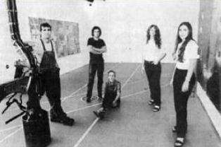 THEY'VE ARRIVED! From left: Artists Daniel Fiorda, Pablo Contrisciani, Carolina Sardi, Karina Chechik and Luciana Abait.
