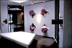 """Highlights"" Installation, Silvana Facchini Gallery, ""The Treat Of Light"", Miami, Florida, July 2001"