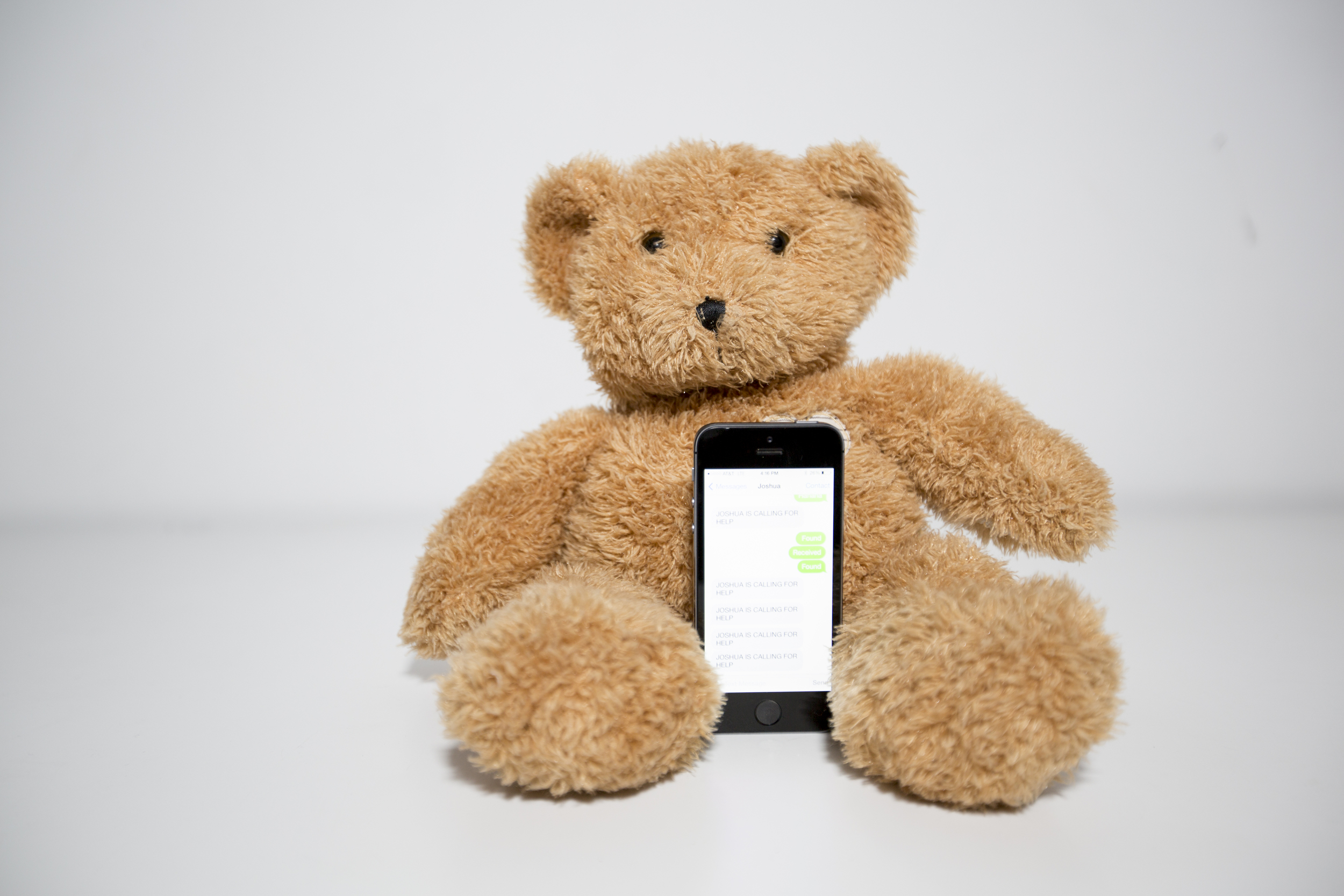 A GSM shield for the Arduino board was used to enable texting to and from the bear.