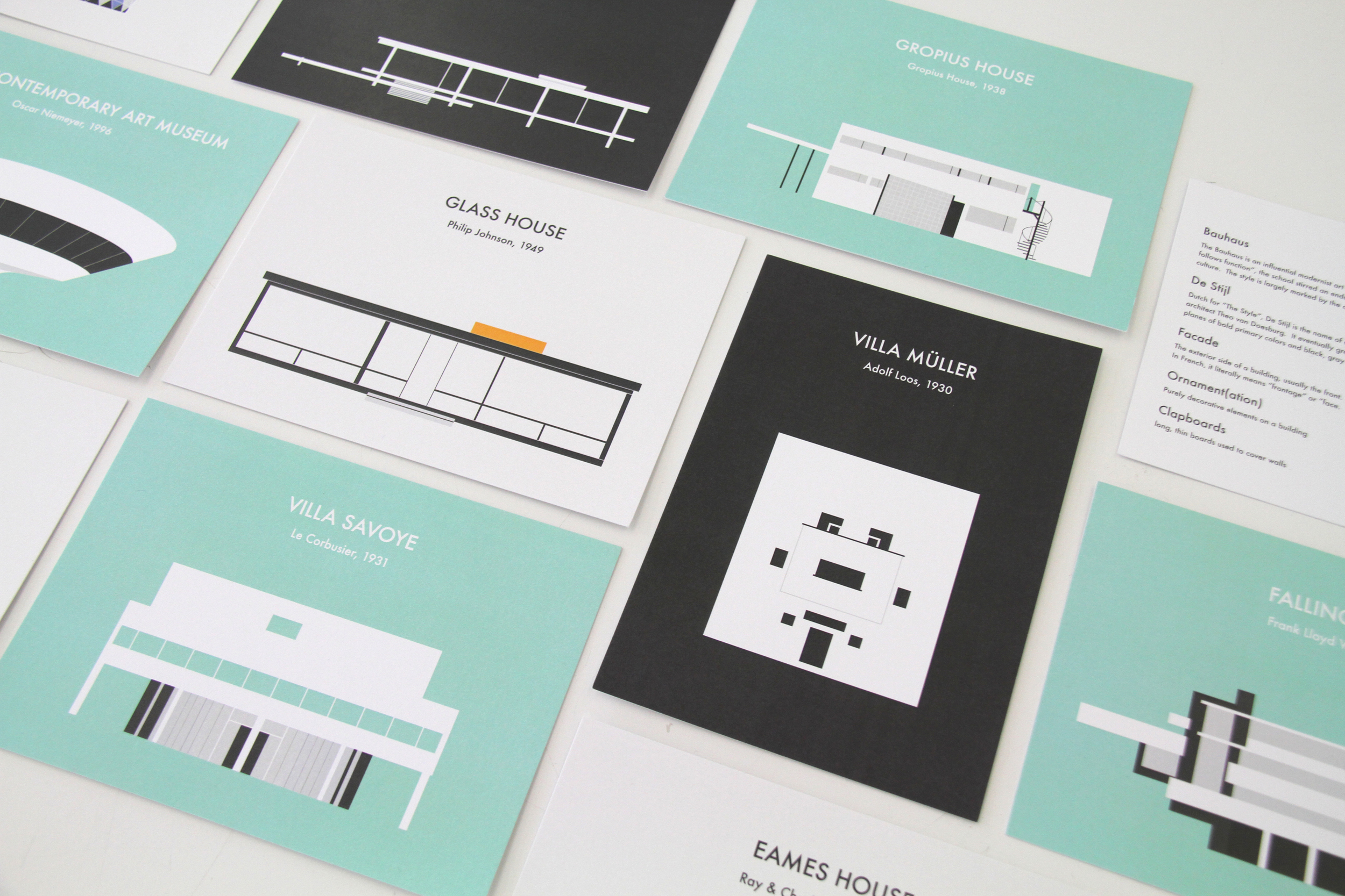 """One of the products I sold was a 5x7"""" print pack of all the illustrations I made of famous modern architectural buildings."""