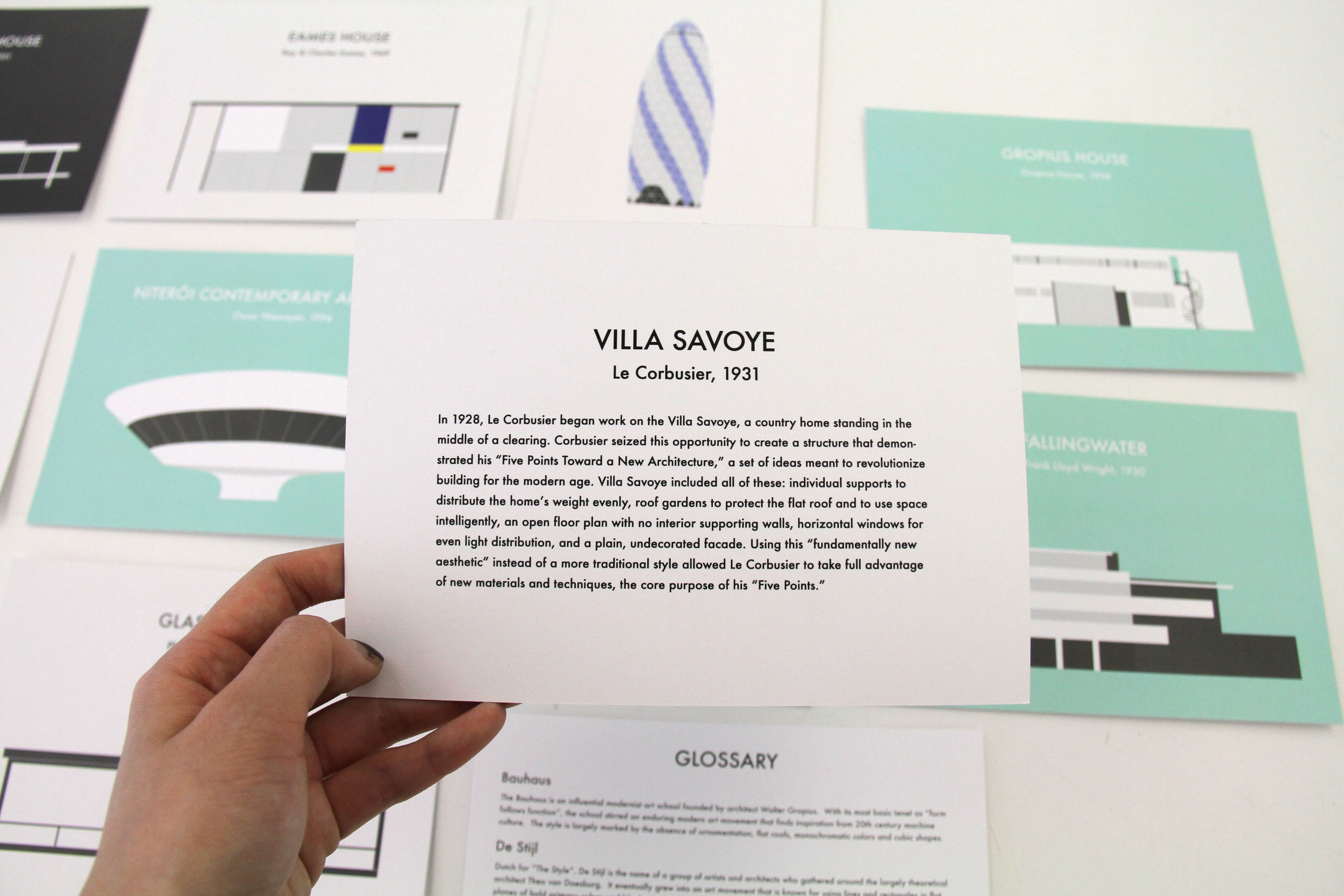 For those who want to learn more about architecture, the back of the prints come with information about the building that every architect knows.