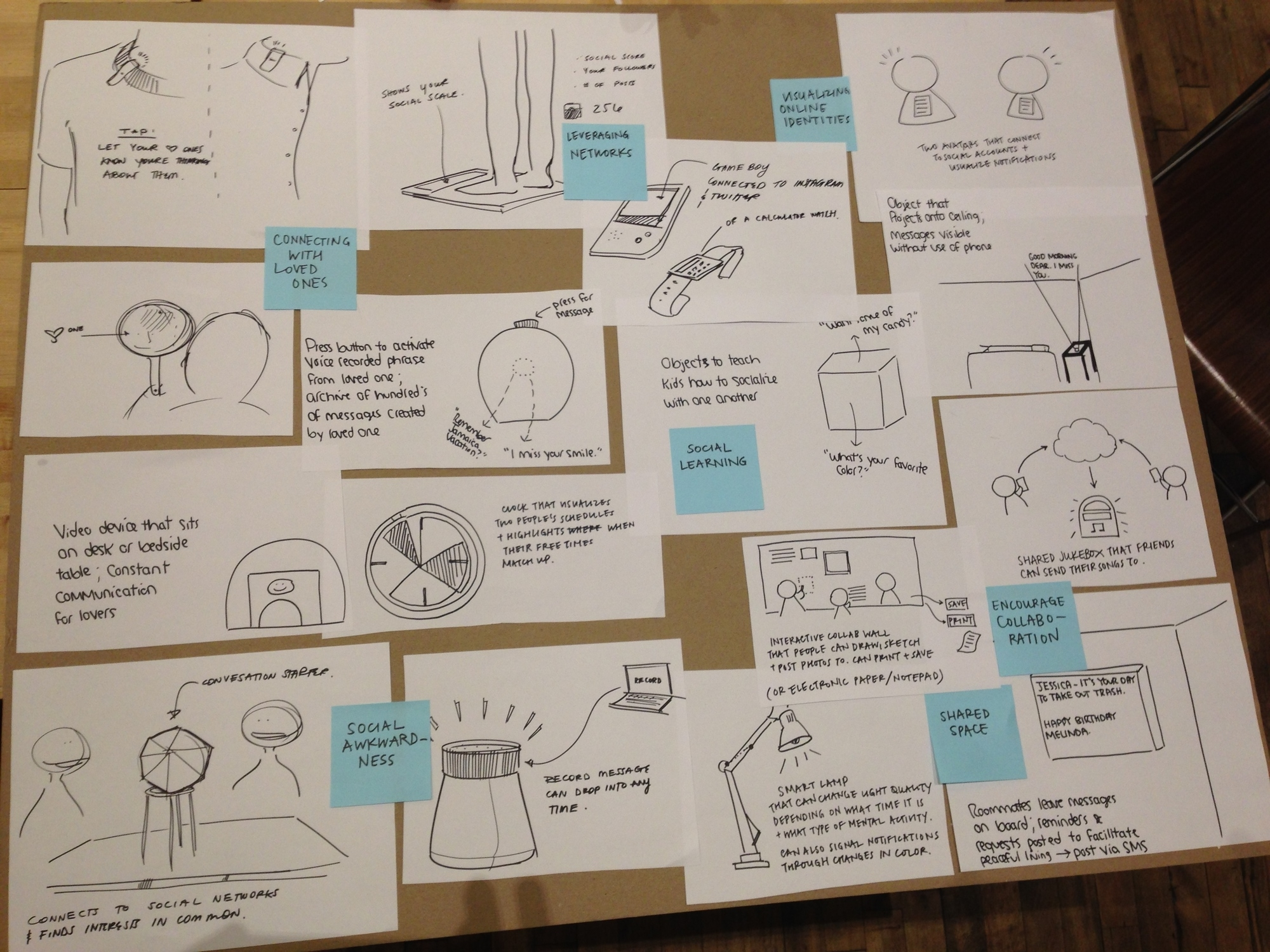 We sketched 50+ ideas before arriving at our final conversation starter piece.