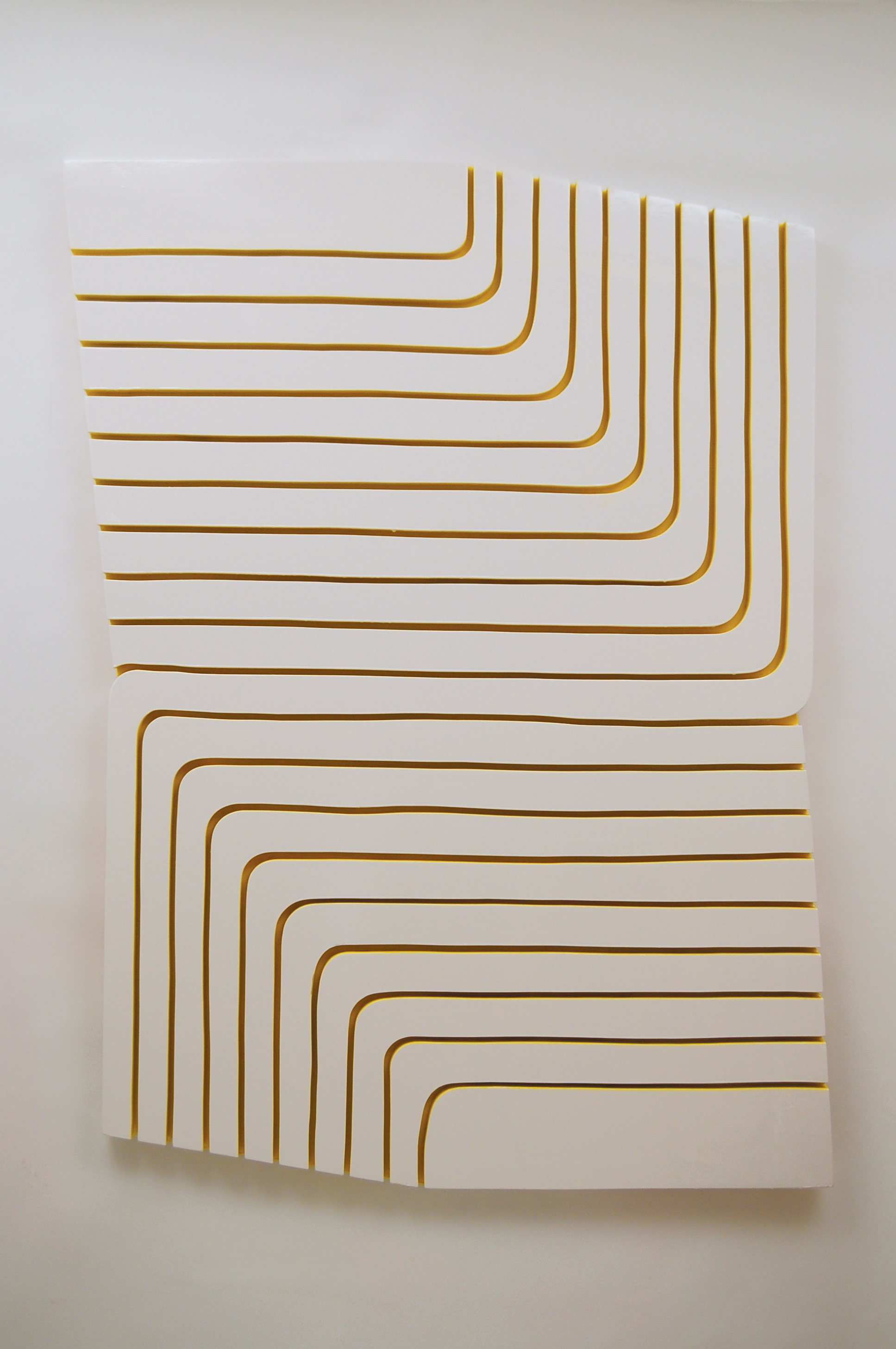 Yellow Groove, 2014   52.5 x 40 inches  enamel and acrylic paint on wood