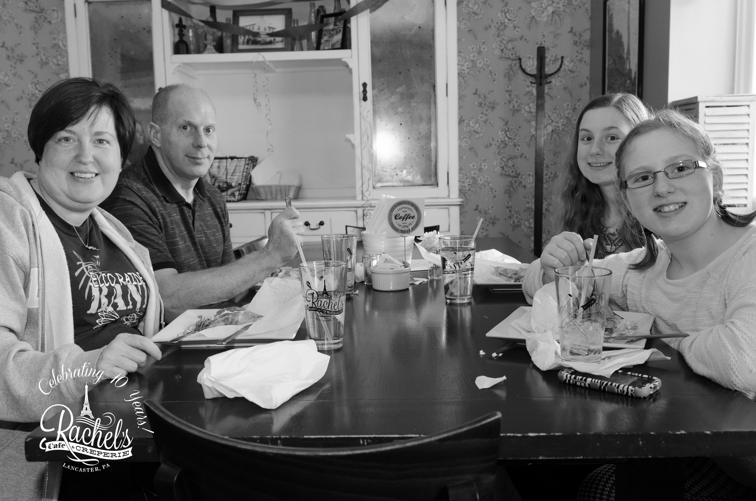 Crystal + Carl, Izzy + Emma Myerstown, PA First Ever Crepes: Capri, Barnstormer, Turkey Club, Ham & Cheese