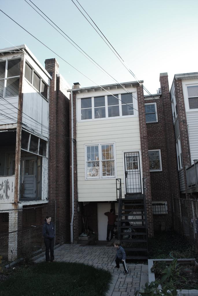 Rear facade prior to addition