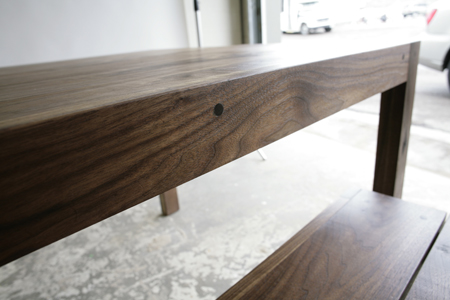 mack dining table and bench