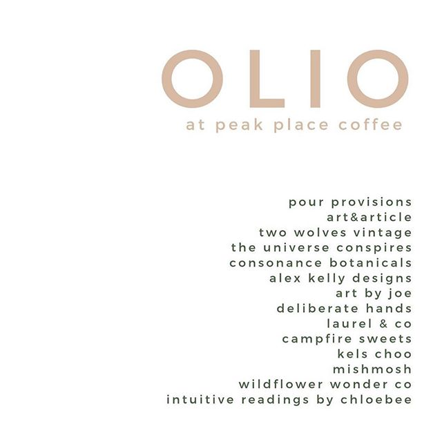 Hey friends, we'll be popping up this Saturday at @peakplacecos with @oliosocial from 4-8pm. This is a curated outdoor market with many of our favorite area makers and artists! We hope to see you all there! 🥰