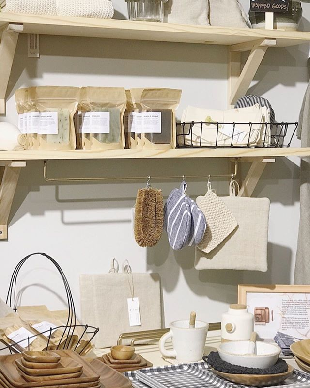 Our little corner at our neighborhood co-op. Stop by @eclecticco._ this weekend to get a sniff of our new soaps!