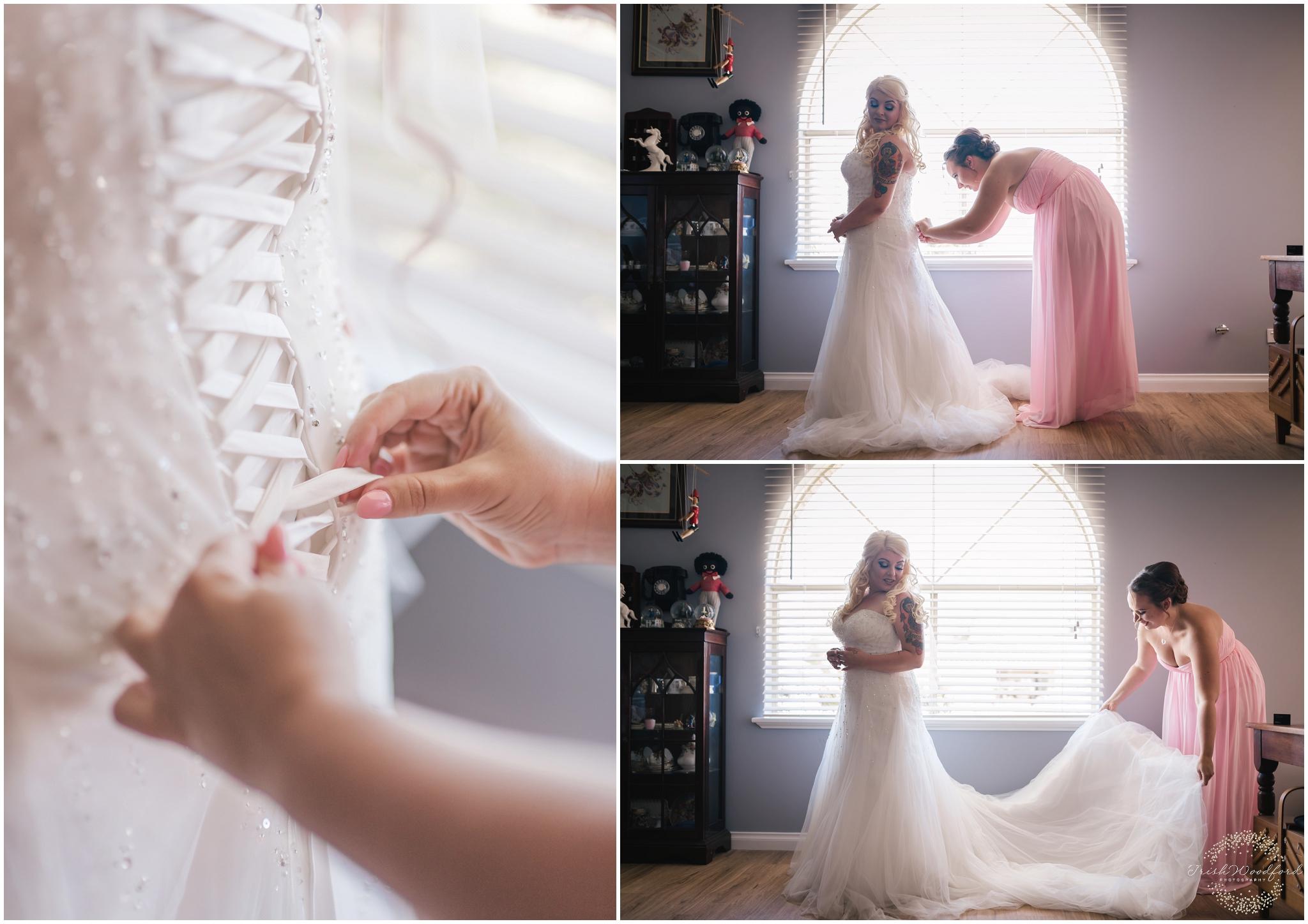 Bride Getting Ready Rockingham Wedding