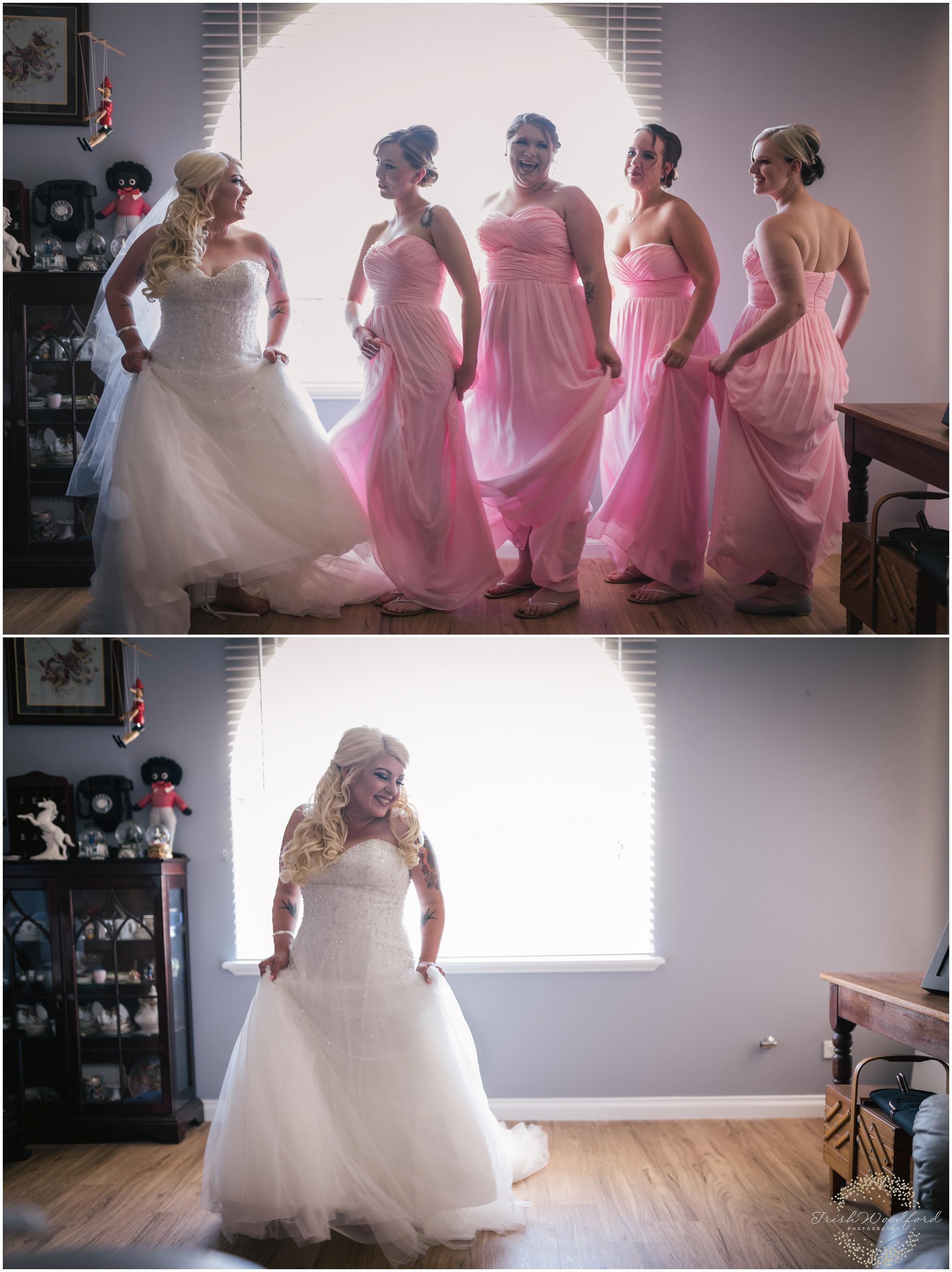 Bride & Bridesmaids Getting Ready Rockingham Wedding