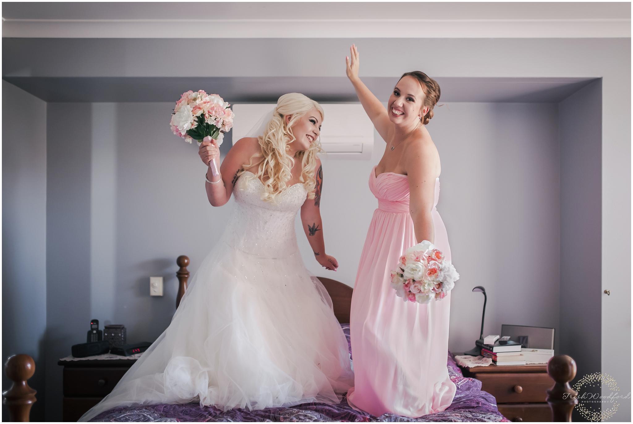 Fun Bride & Bridesmaid Photo Rockingham Wedding