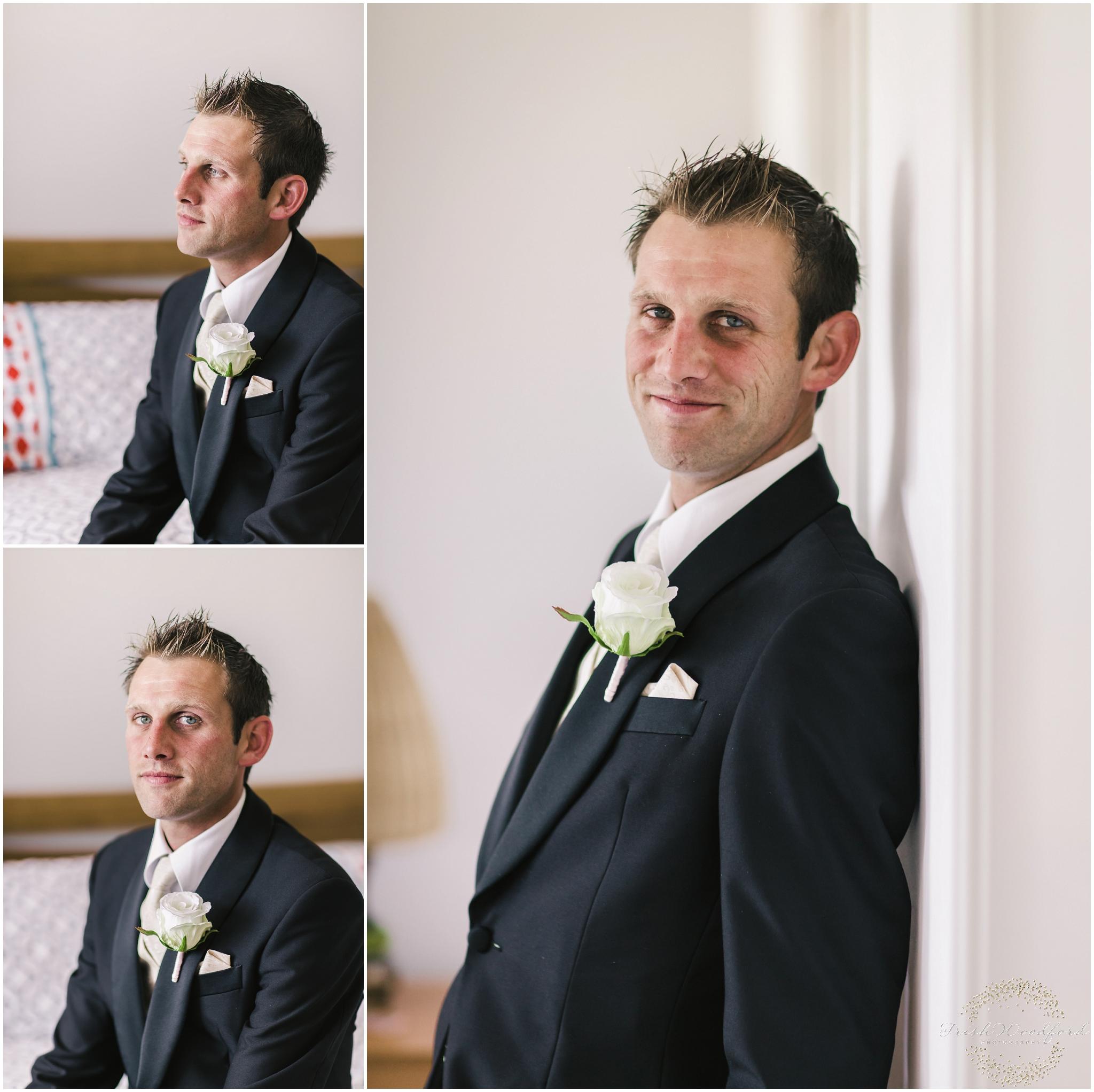 Groom Portrait Rockingham Wedding