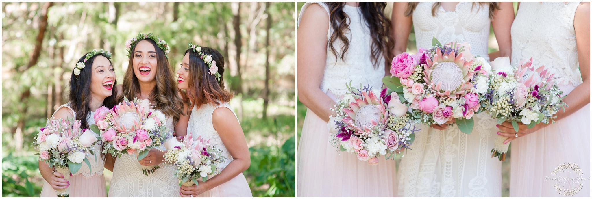 Bride & Bridesmaids Pastel Florals Margaret River Wedding
