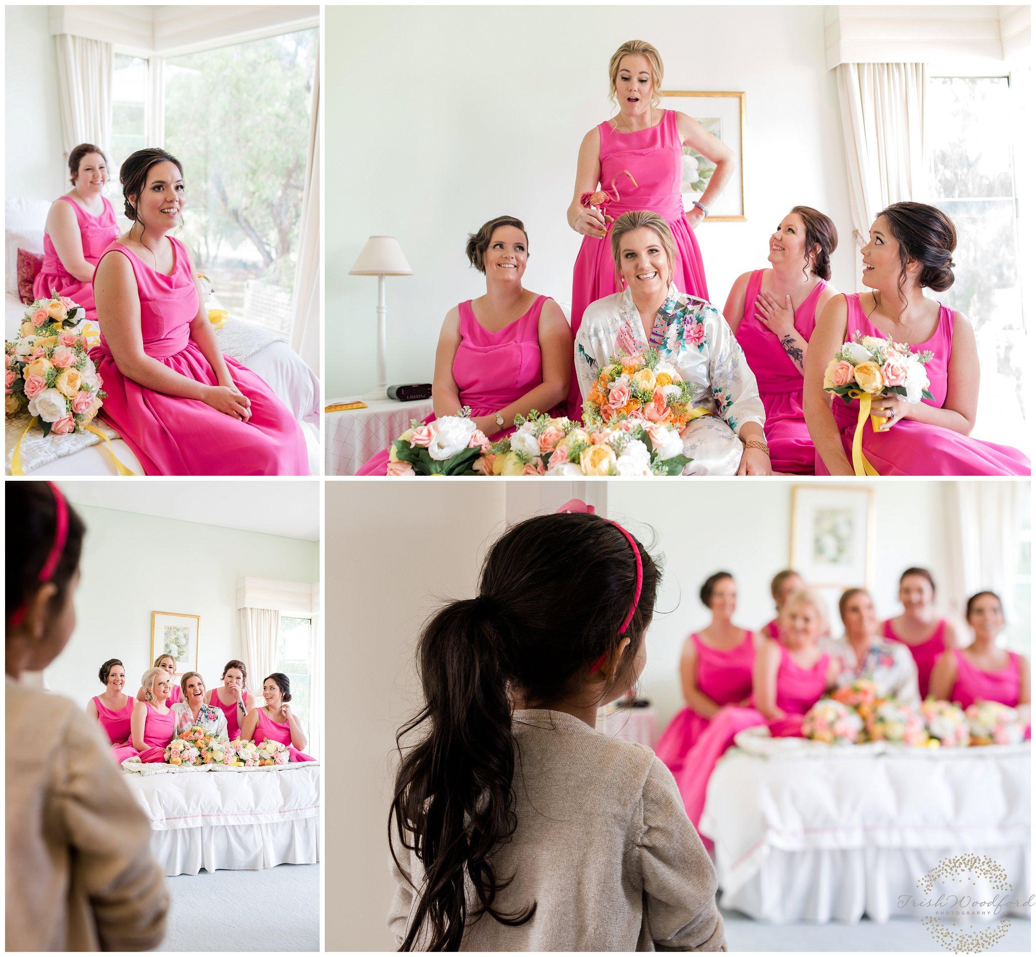 bridesmaids dunsborough wedding