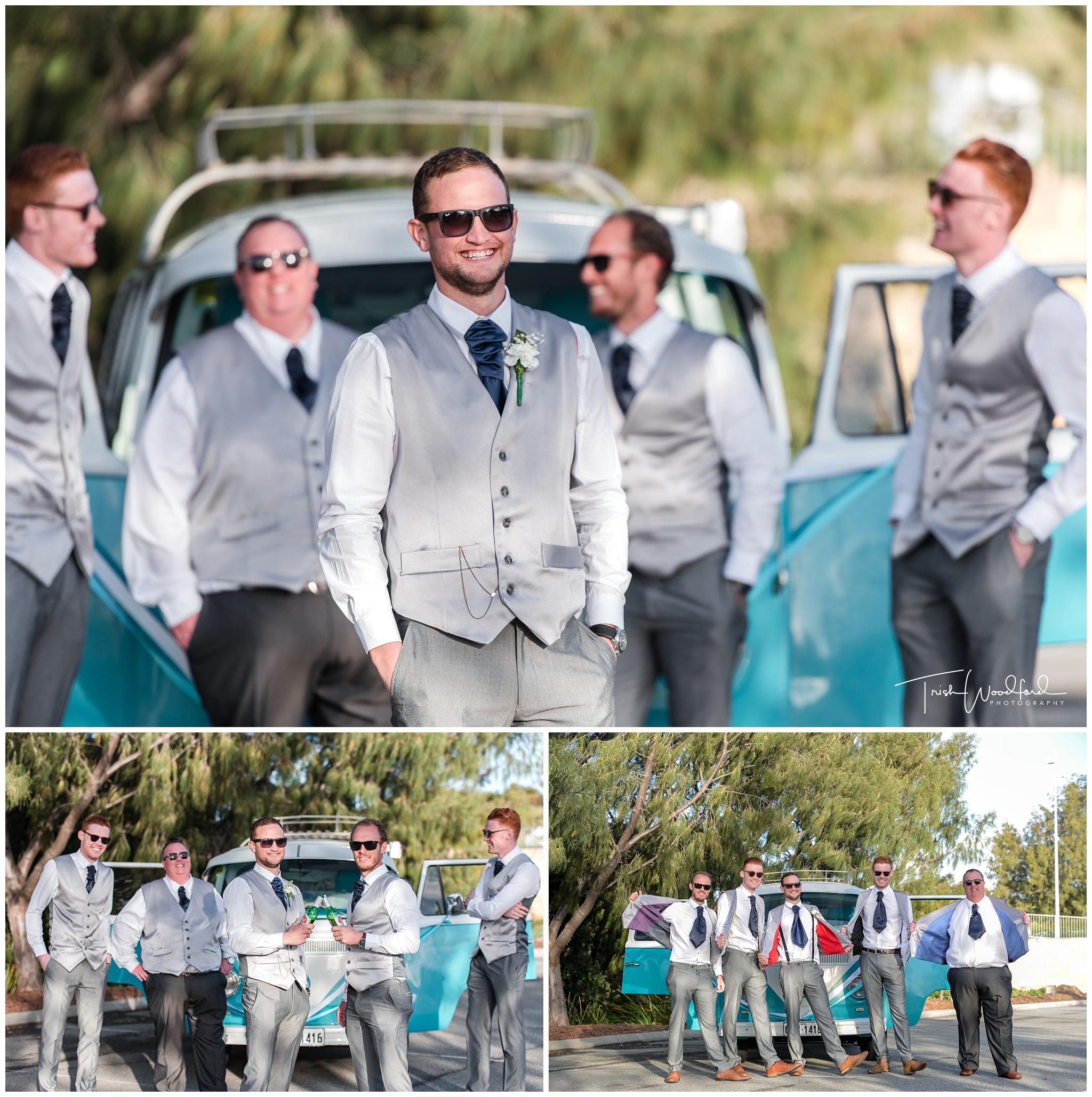 Perth Wedding Photography Groom & Groomsmen Combi