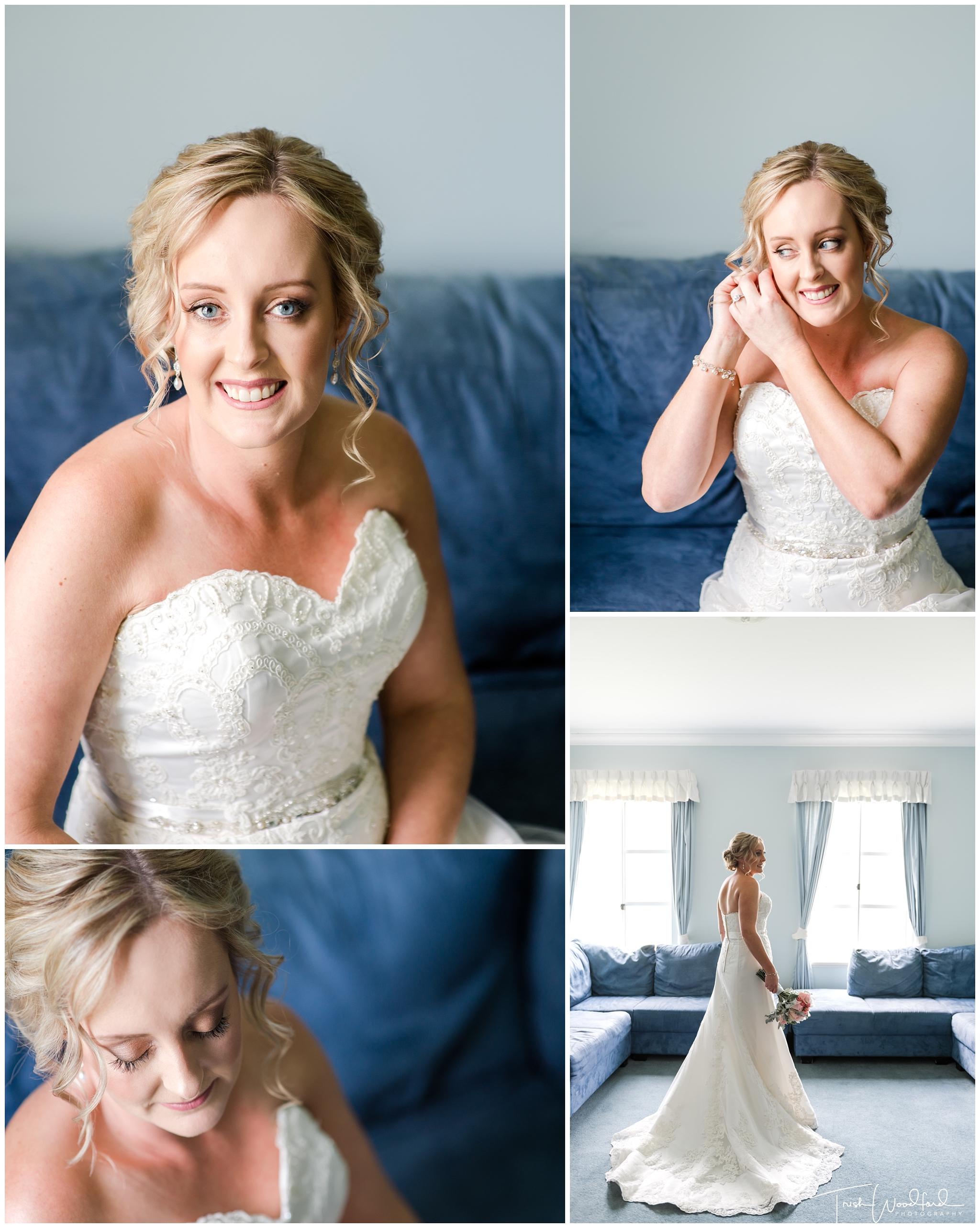 Peel Manor House Wedding Bridal Portrait