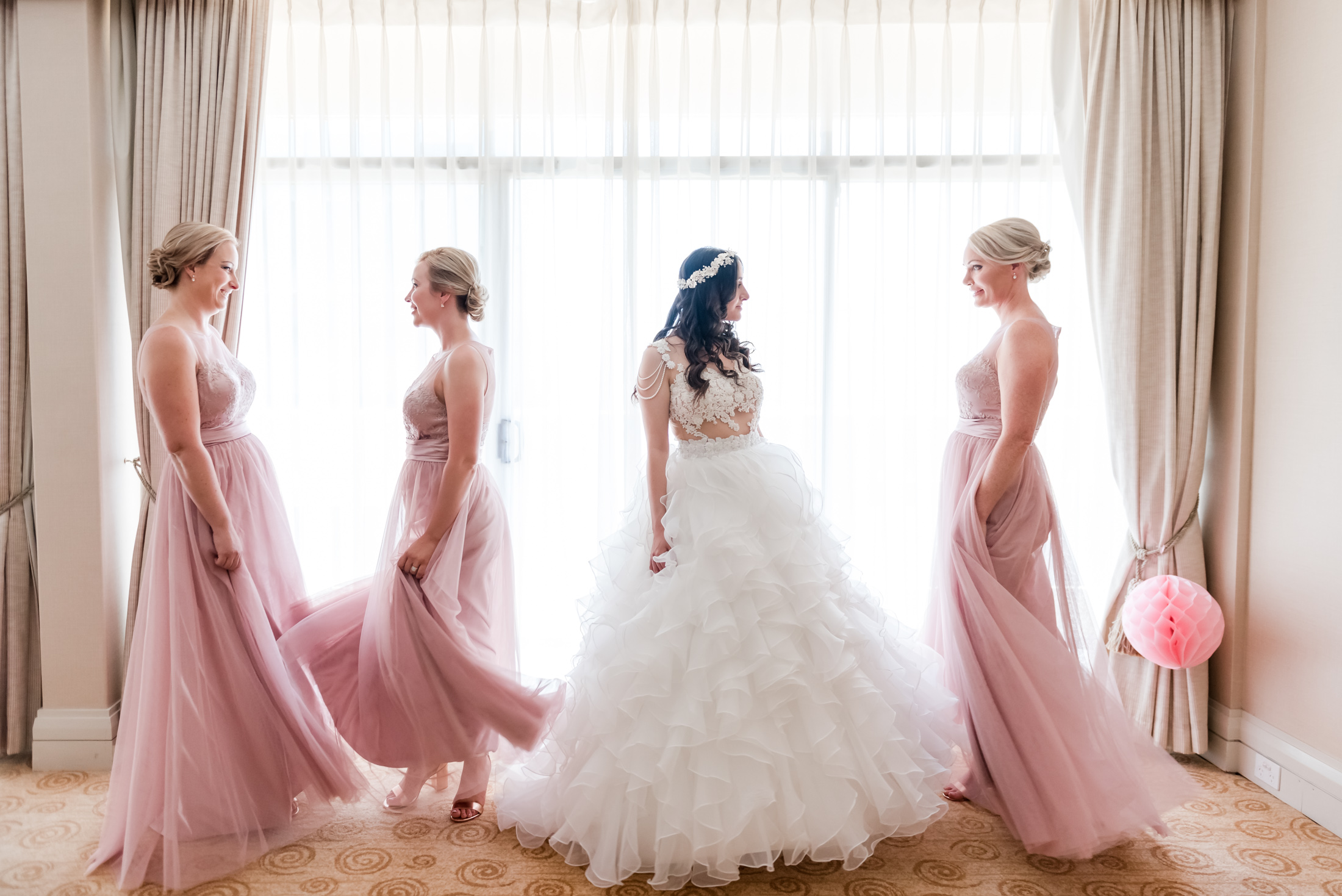 Bride and Bridesmaids Perth Wedding
