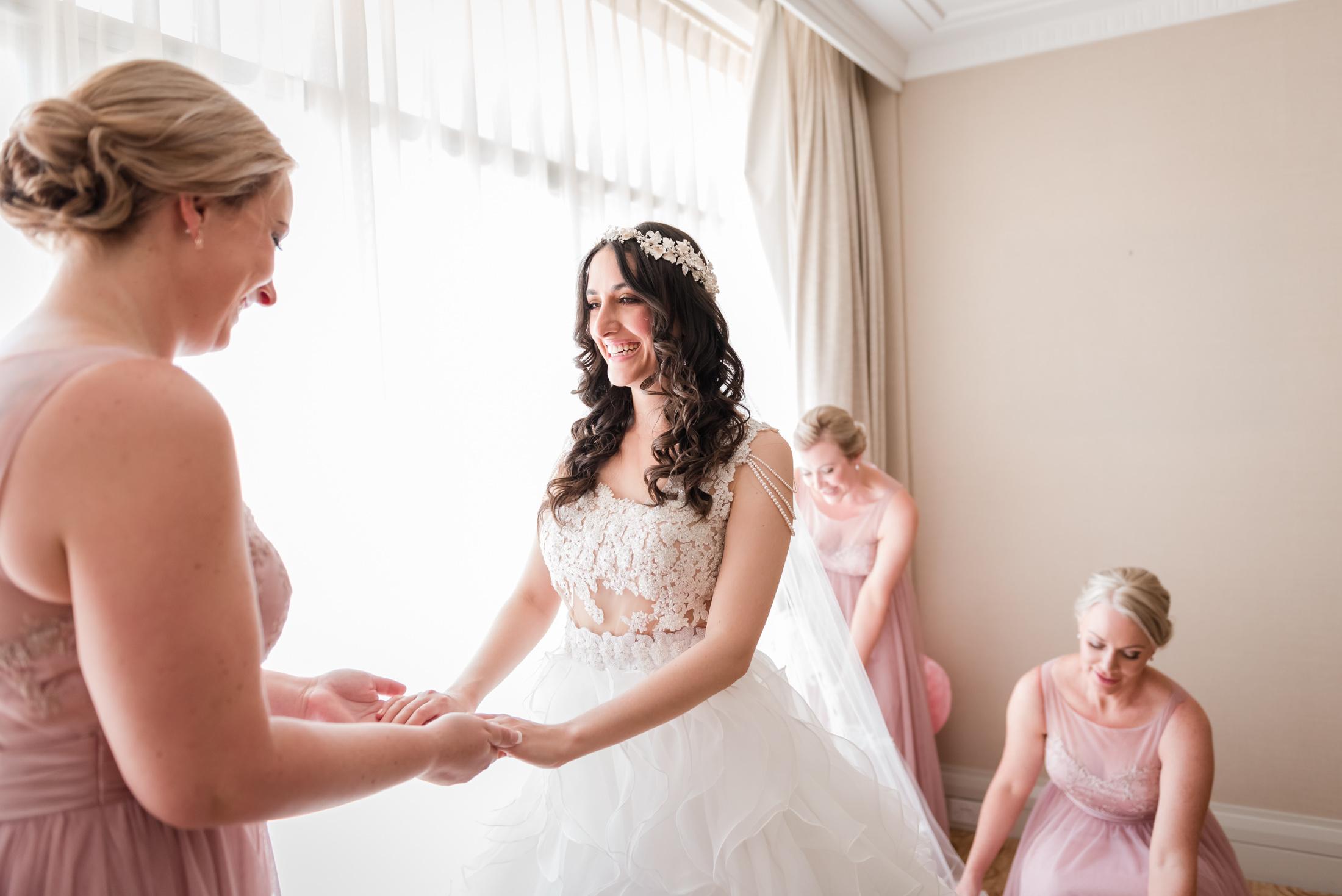 Bride and Bridesmaids Parmelia Hotel Perth