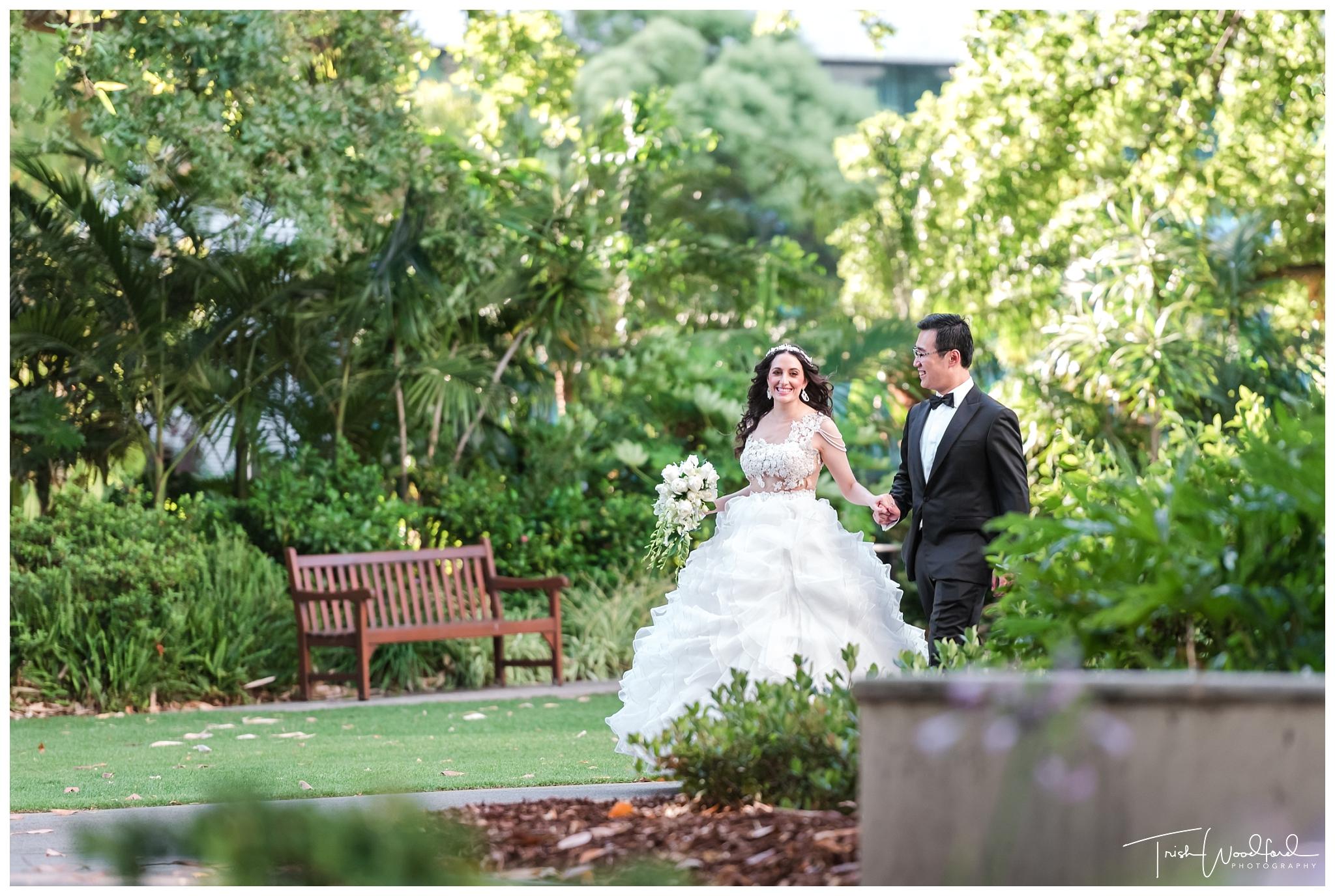 Stirling Gardens Wedding Portrait Photos