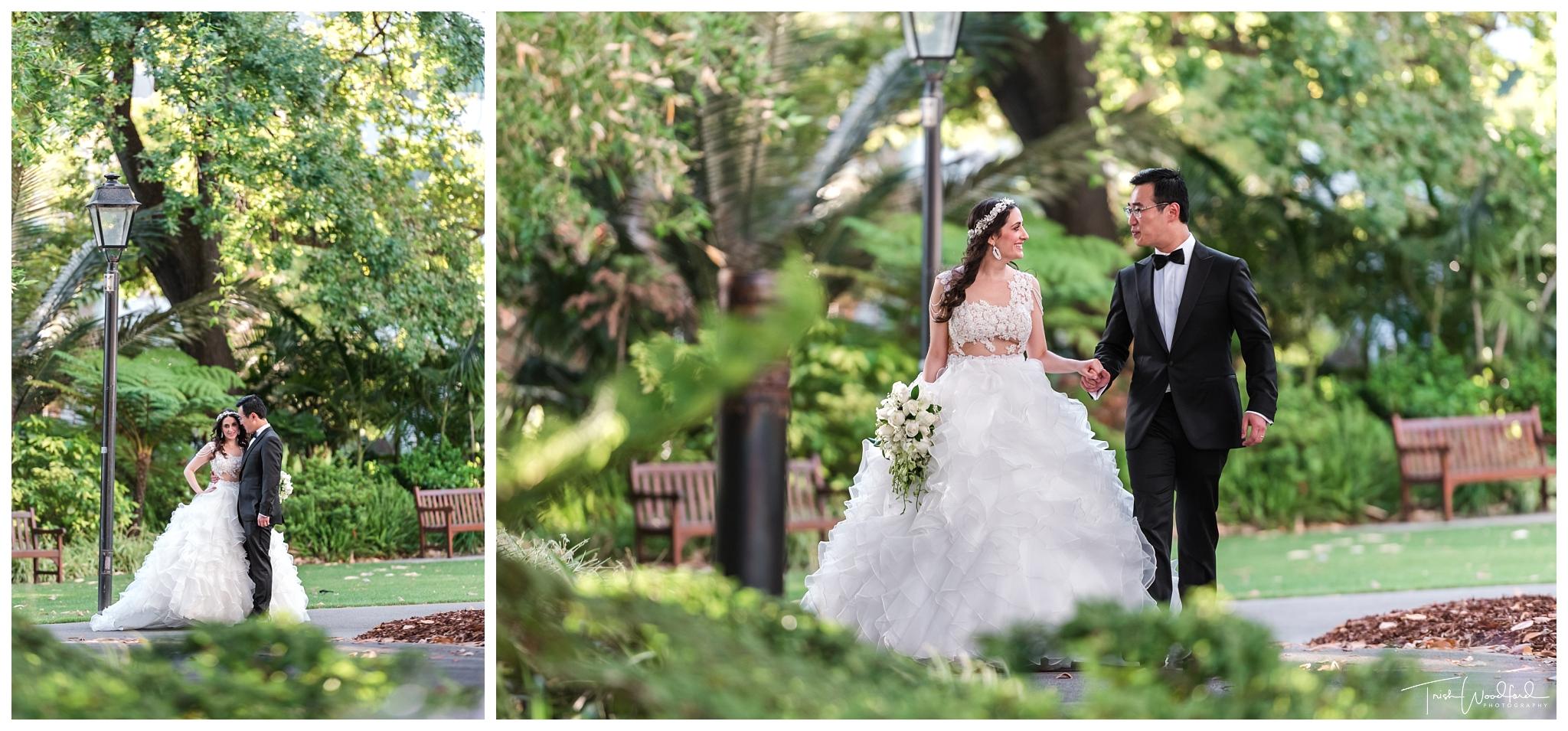 Stirling Garden Wedding Portrait Photos