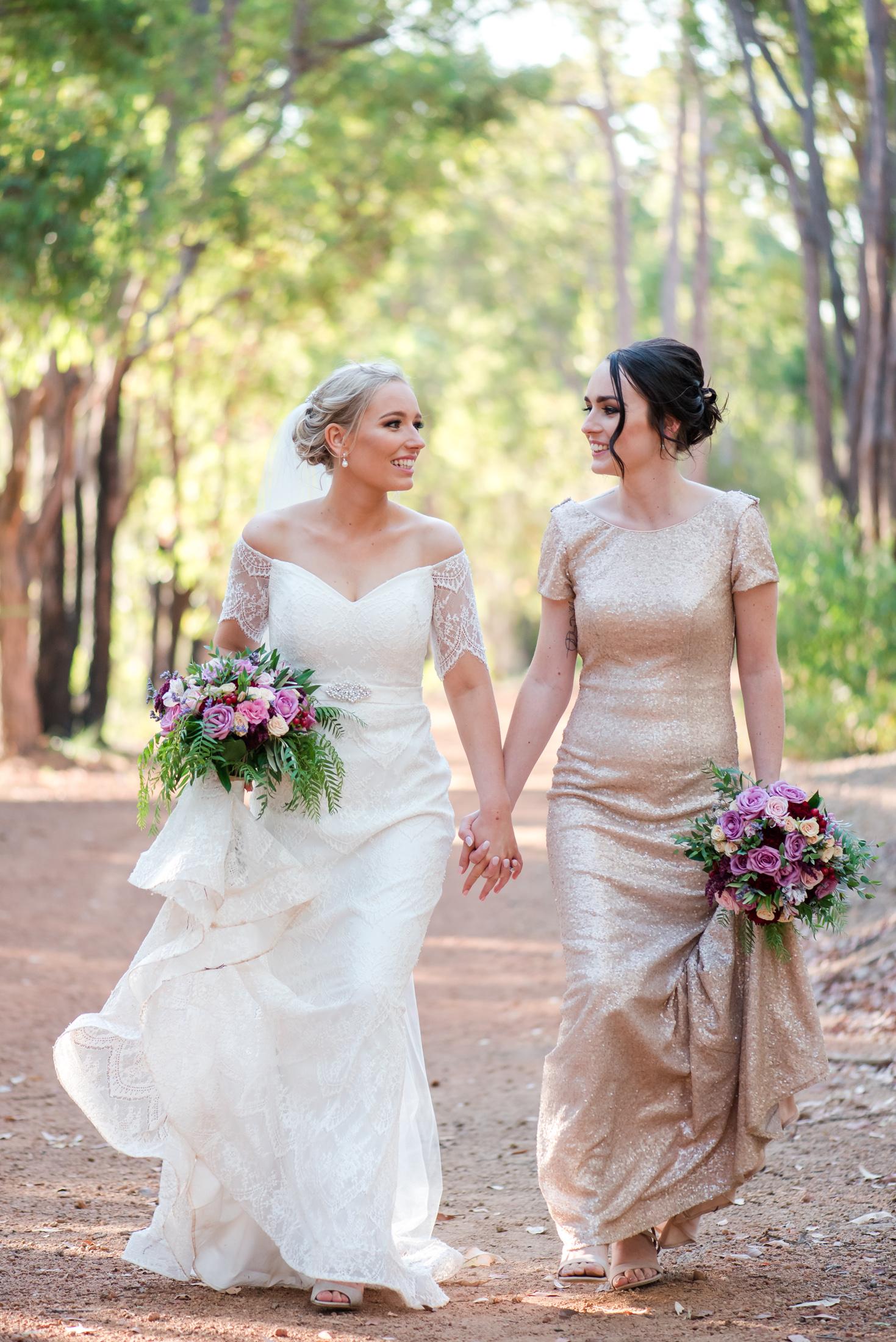 Bride & Bridesmaid Araluen Golf Resort