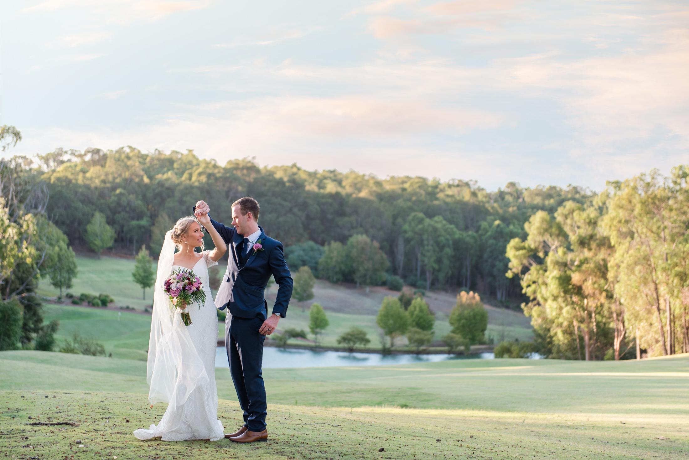 Wedding Portrait at Araluen Golf Resort