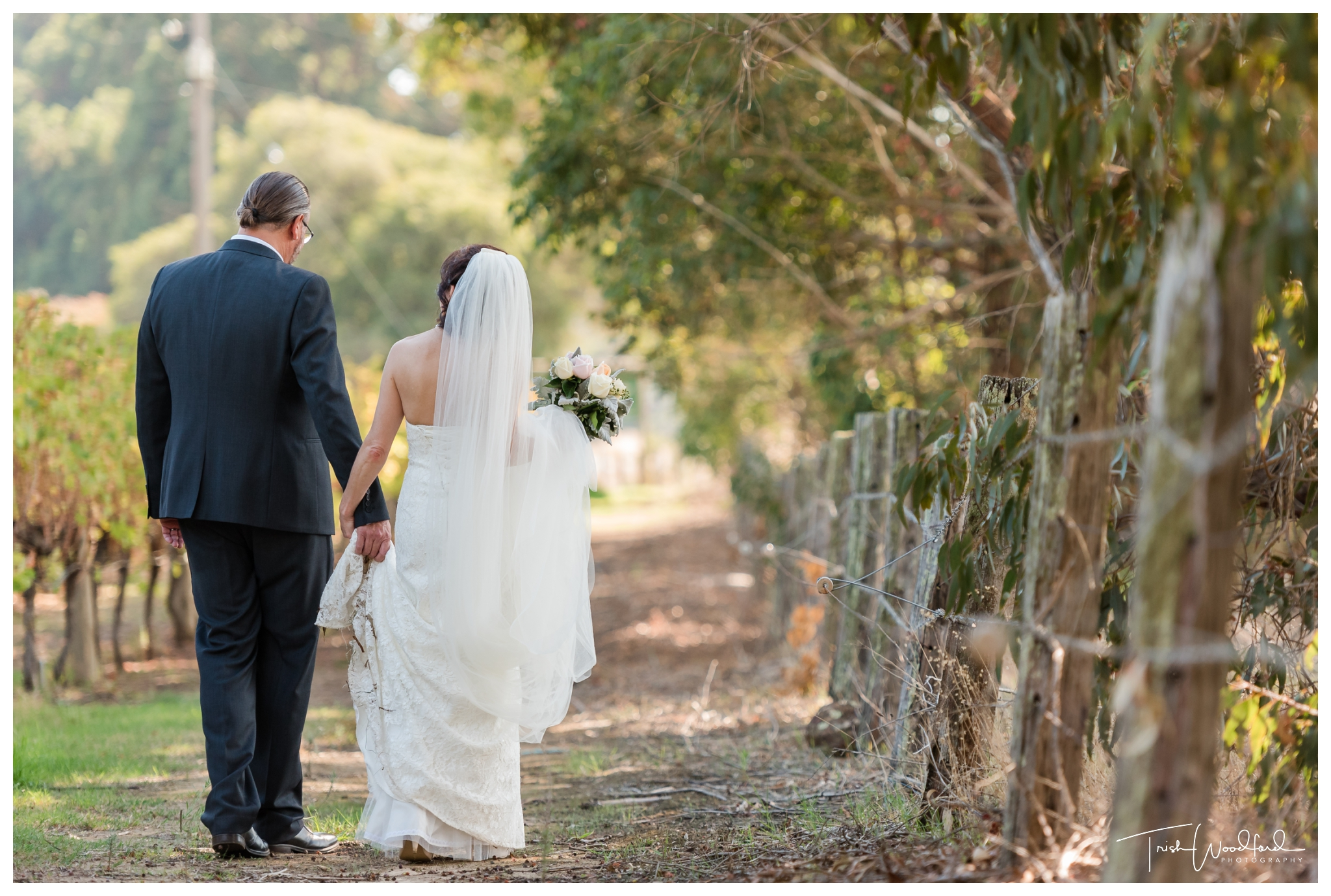 Bride and Groom St Aidans Winery Wedding