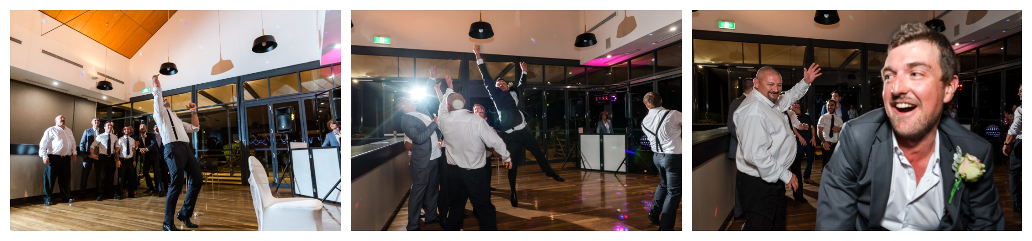Garter Toss Mandurah Quays Wedding