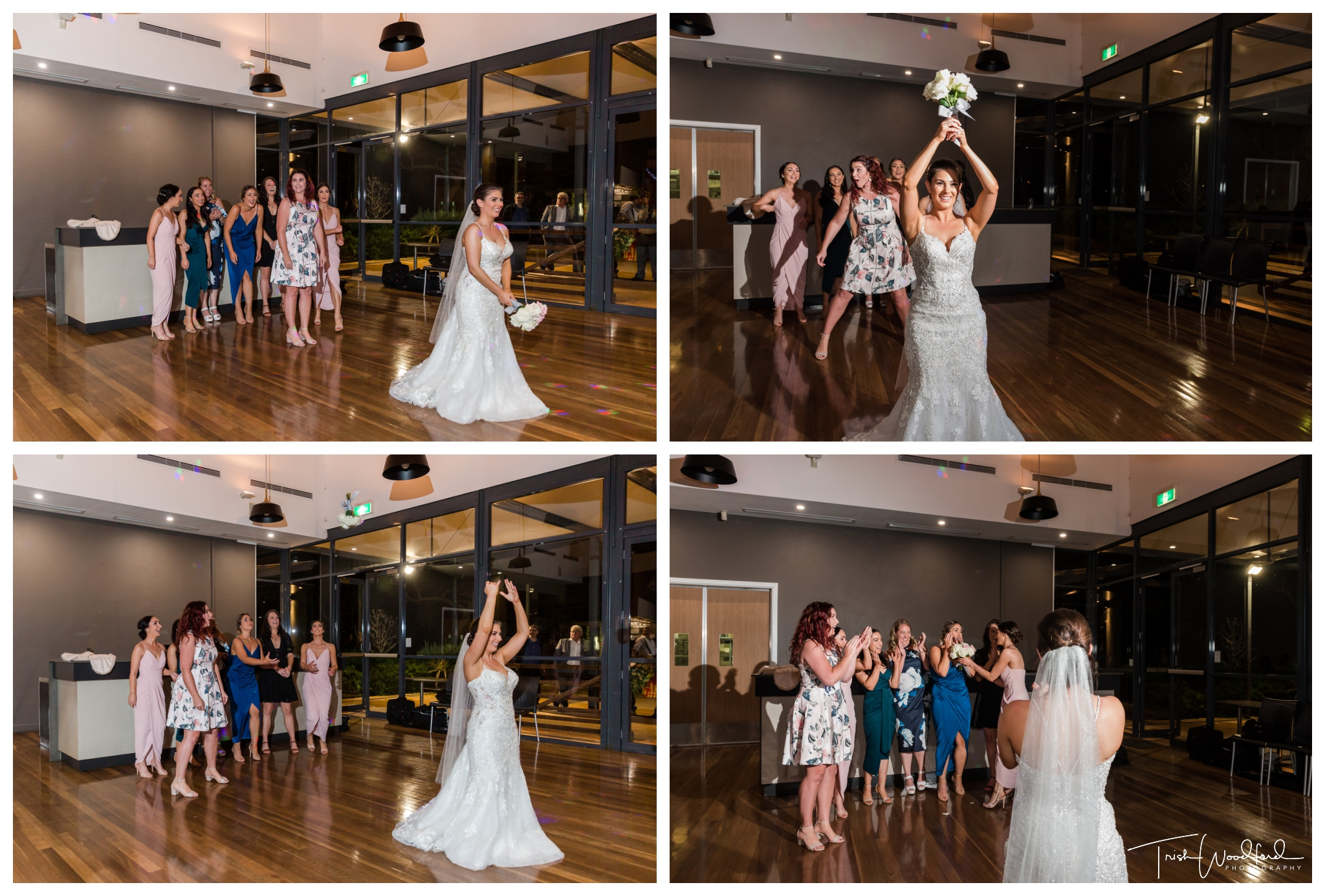 Bouquet Toss Mandurah Quays Wedding