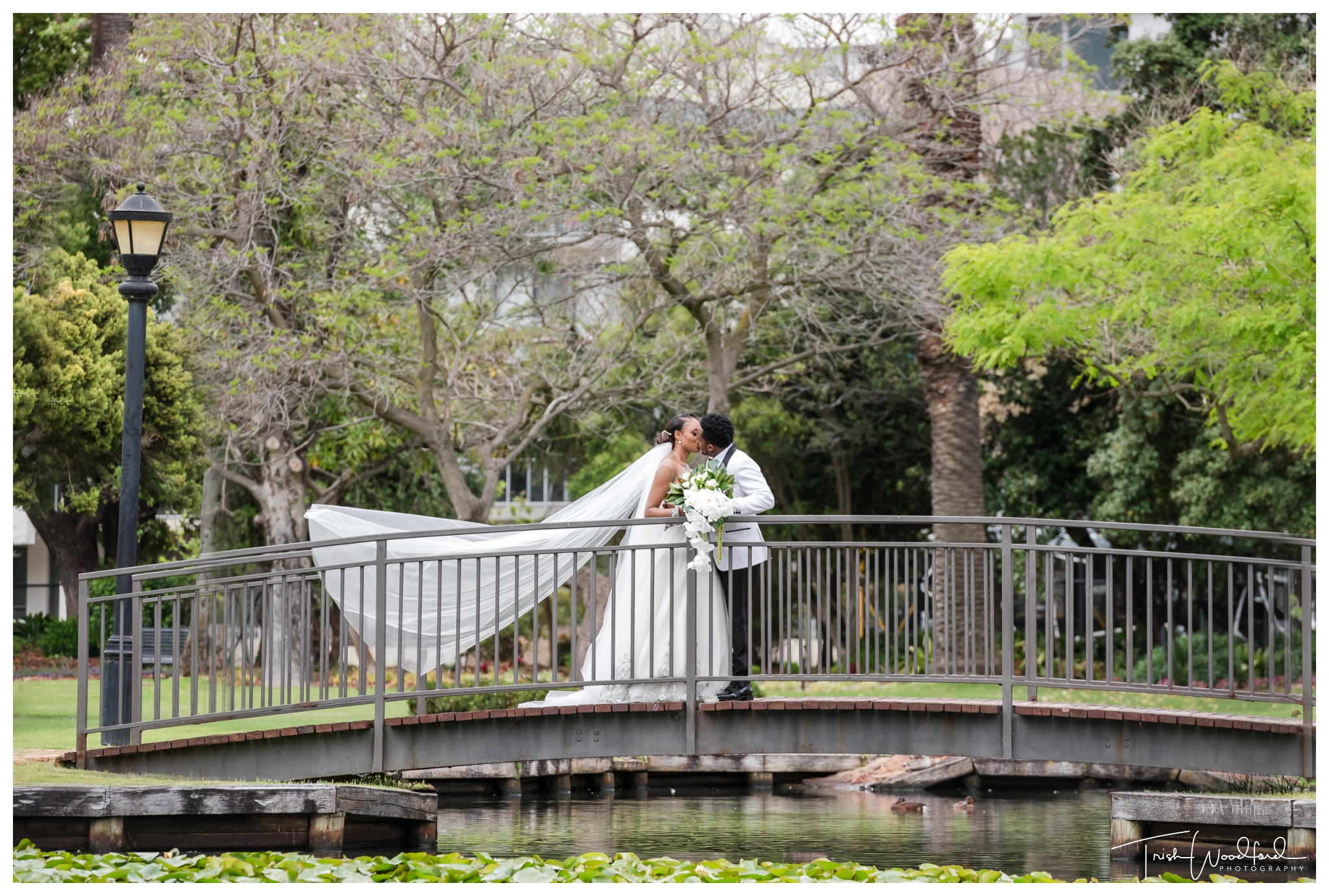 Bride and Groom Queens Gardens
