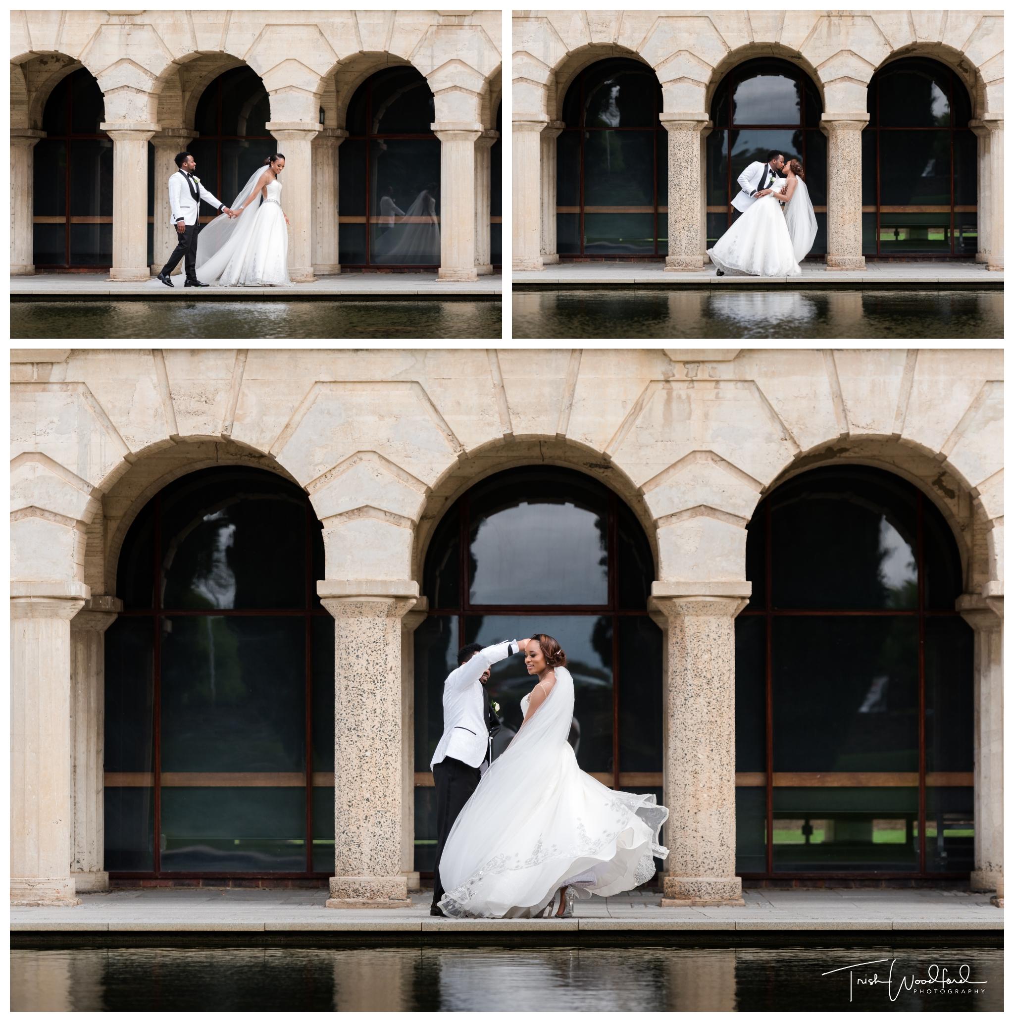 Bride and Groom Reflection Pool UWA