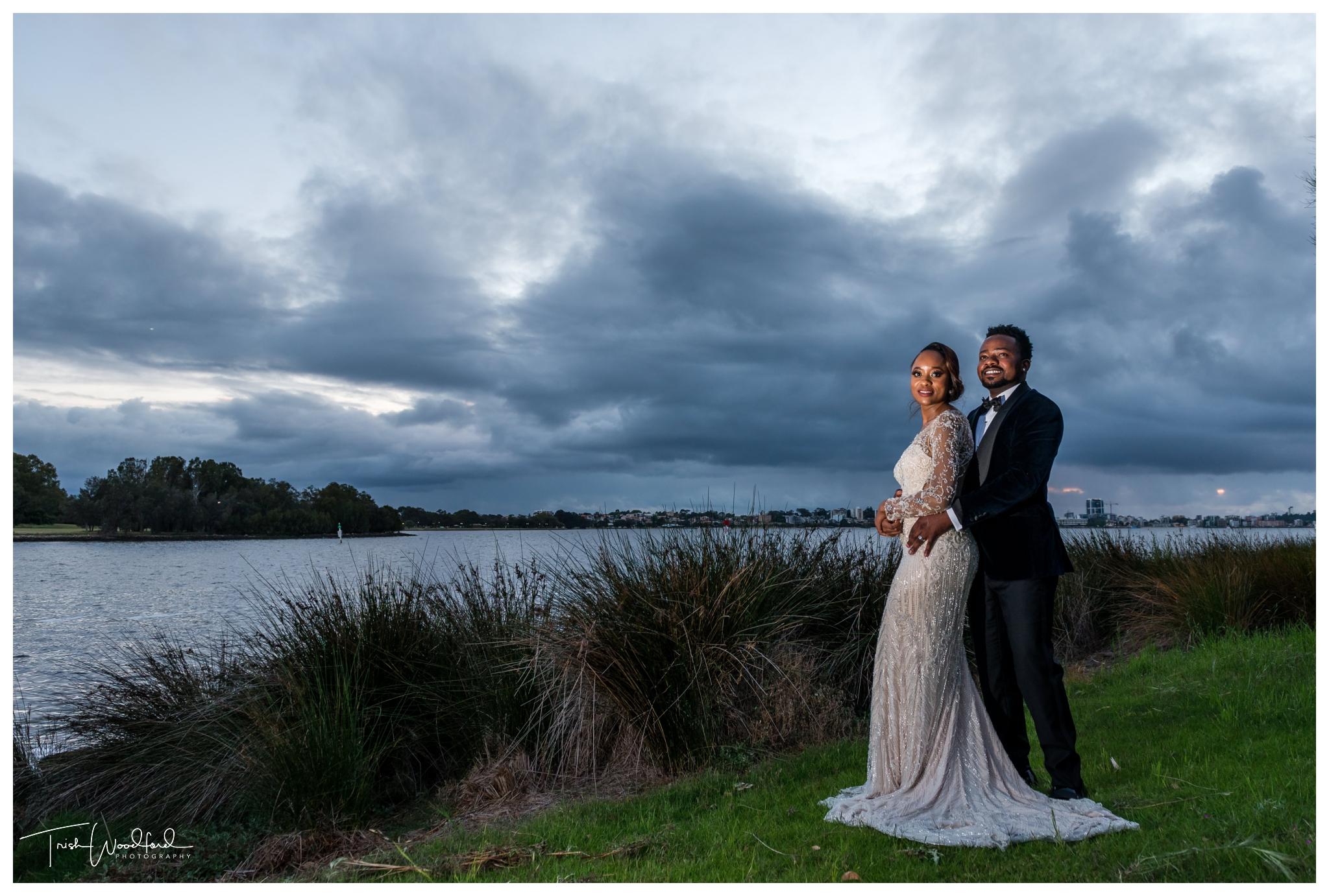 Bride and Groom Perth City Wedding