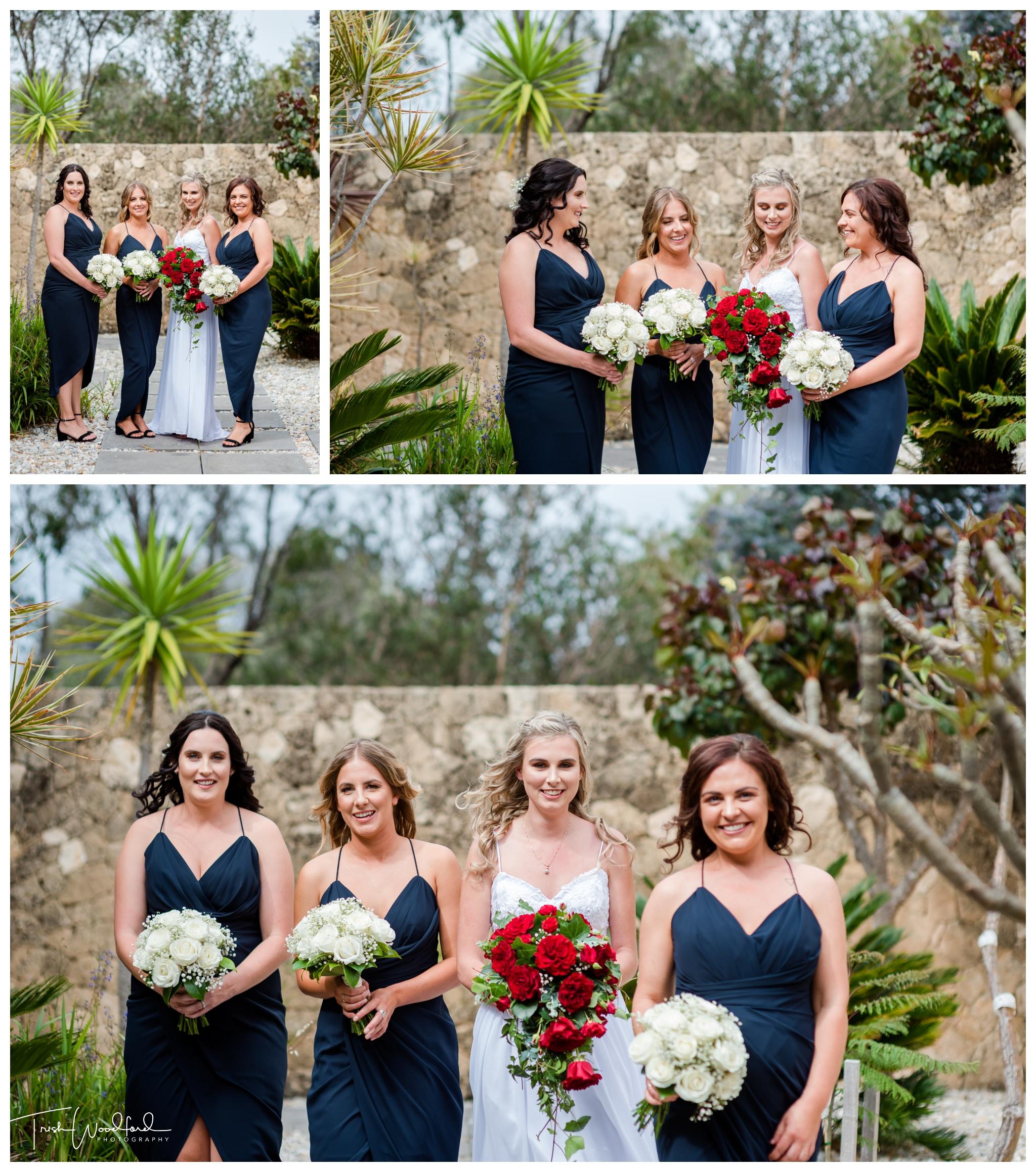 Bride and Bridesmaids Yallingup Wedding