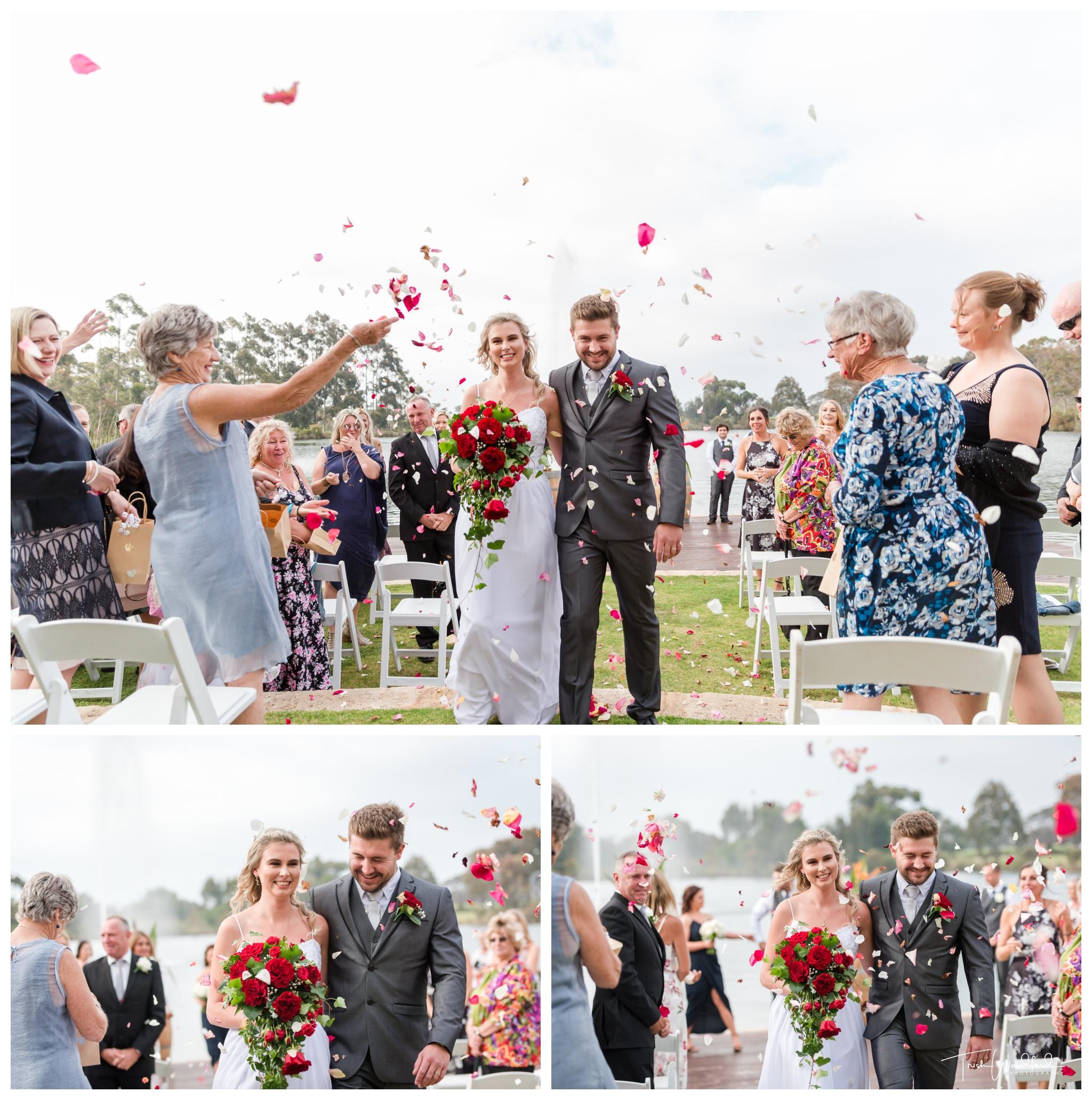 Bride and Groom Black Brewing Co Wedding