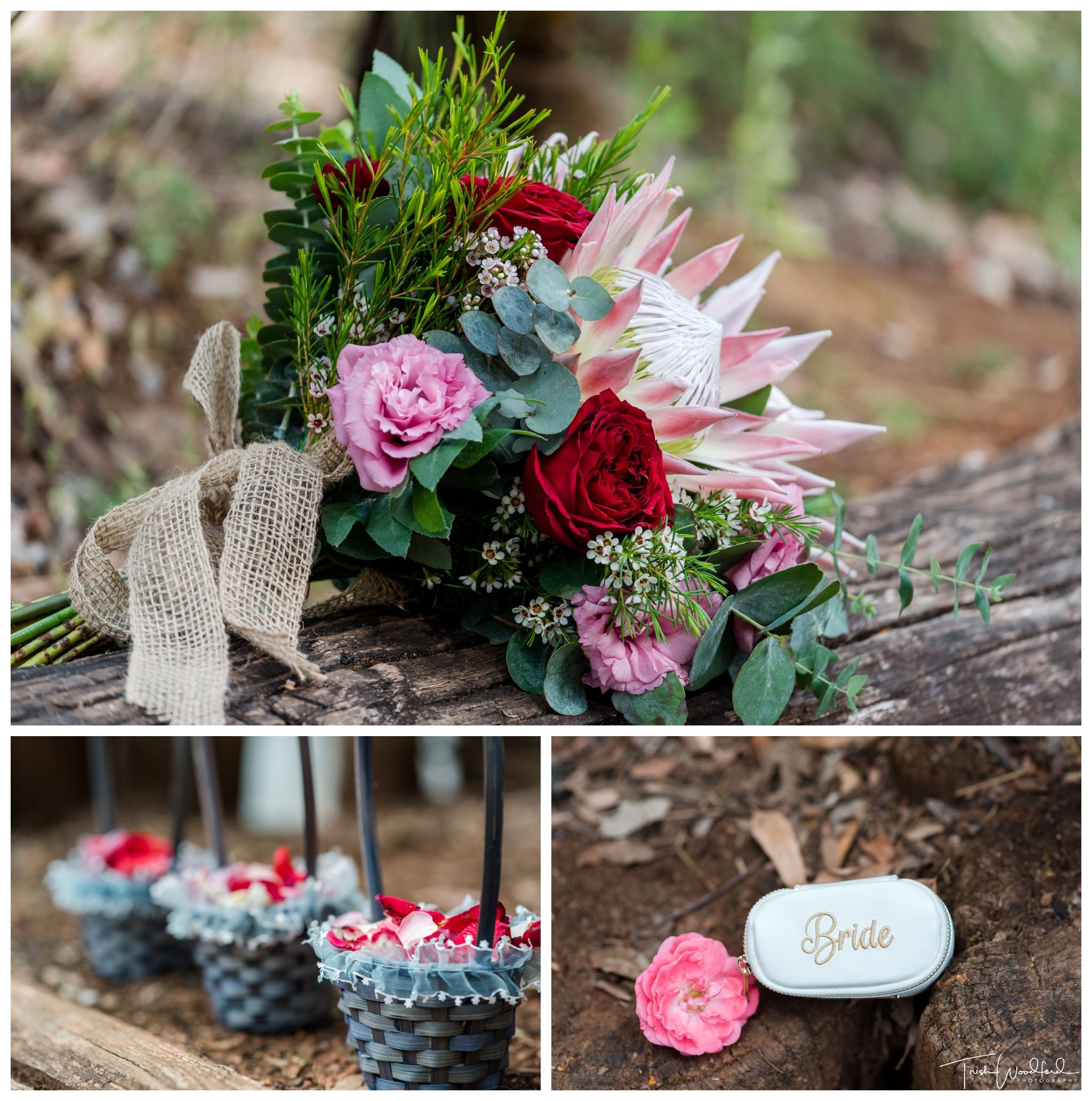 Wedding flowers nanga bush wedding