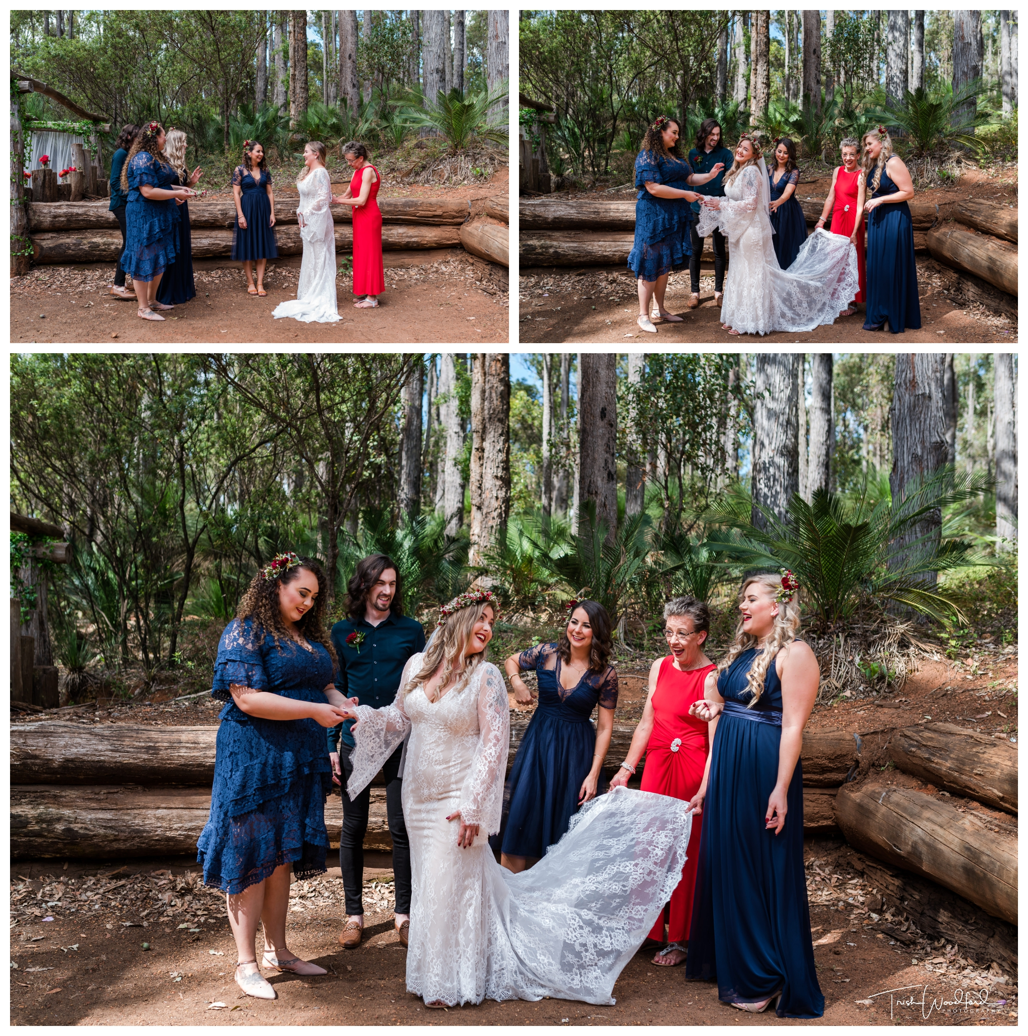 Bridal Party Nanga Bush Wedding