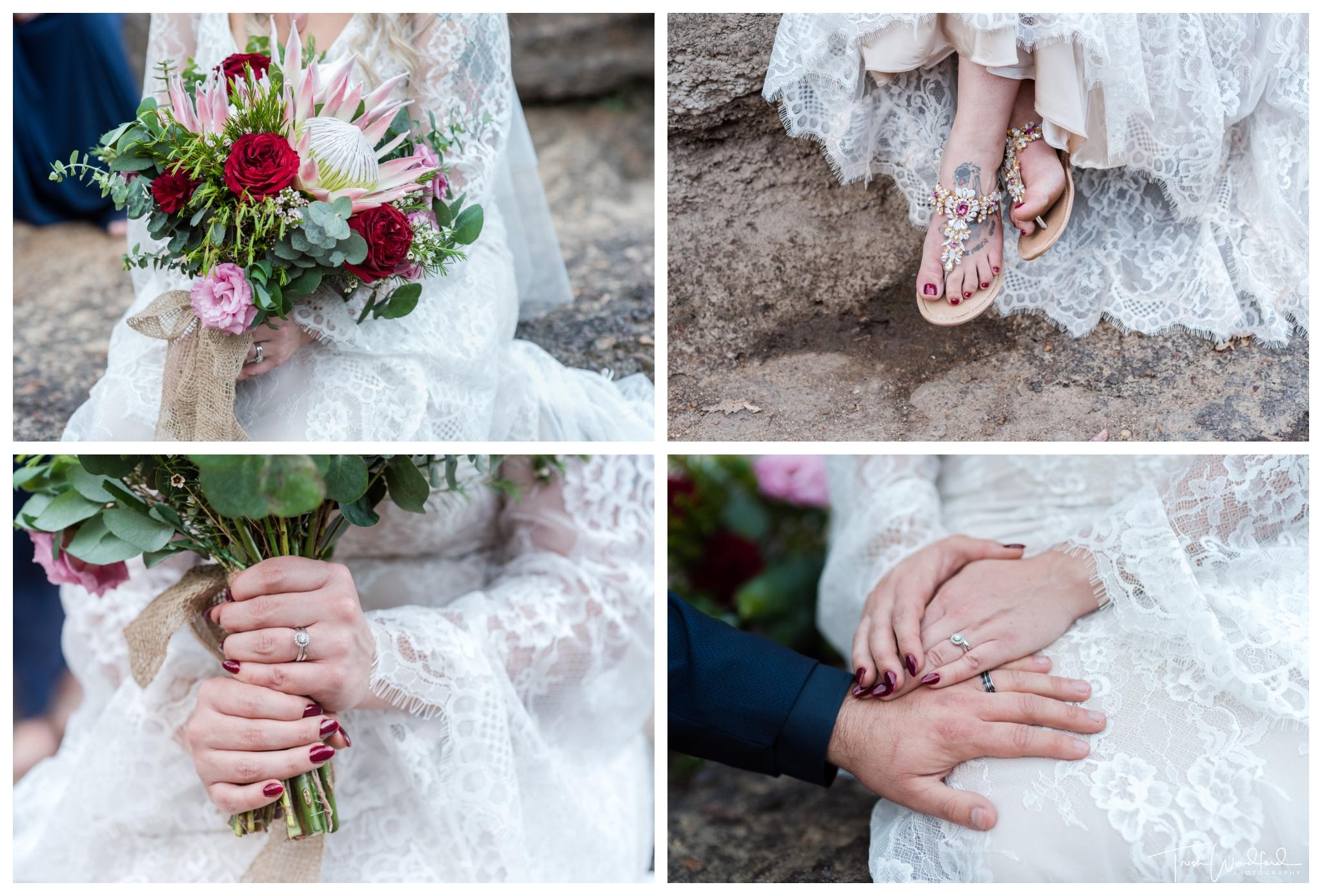 Nanga Bush Wedding Bridal Details