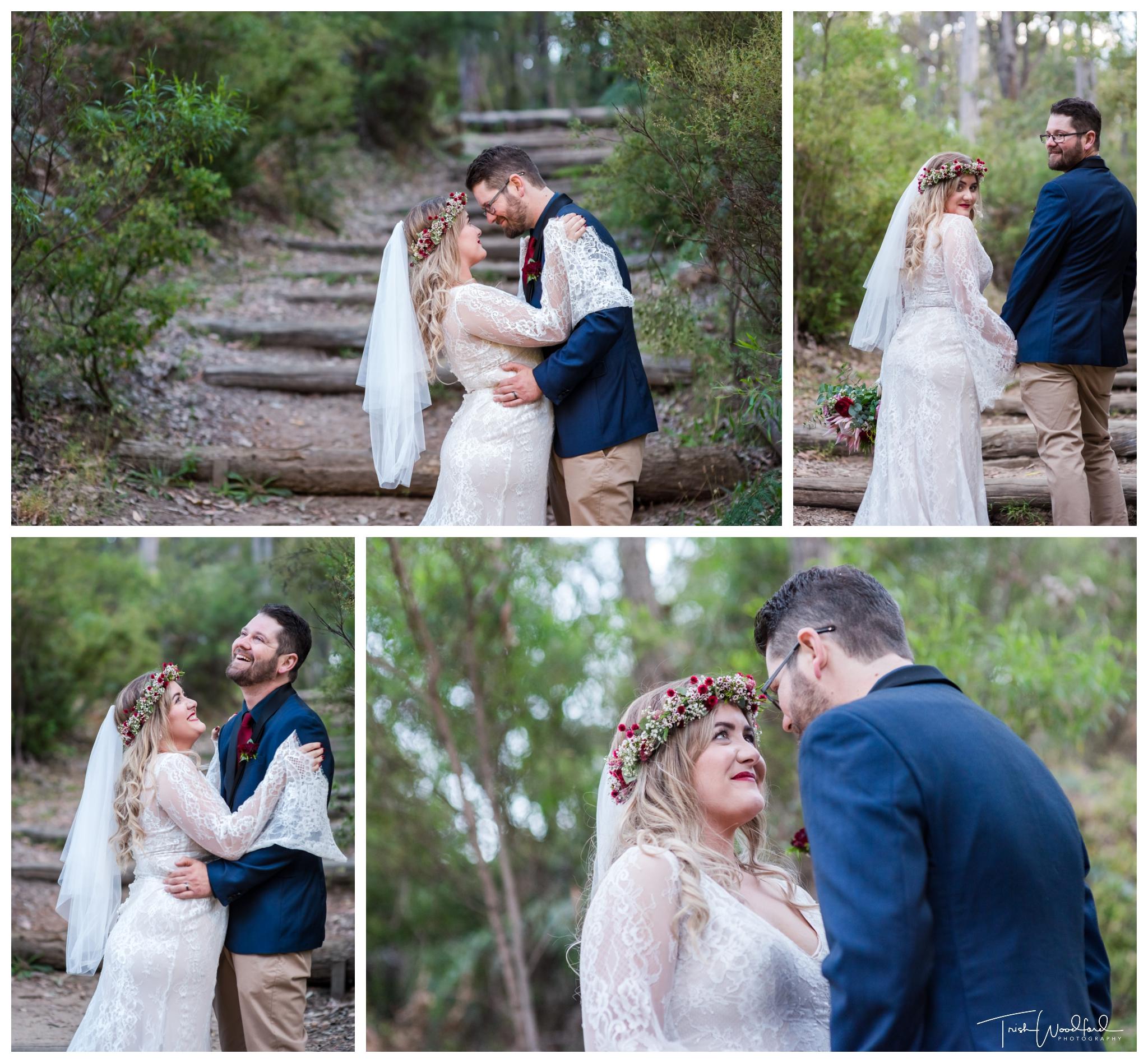 Nanga Bush Wedding Bride and Groom